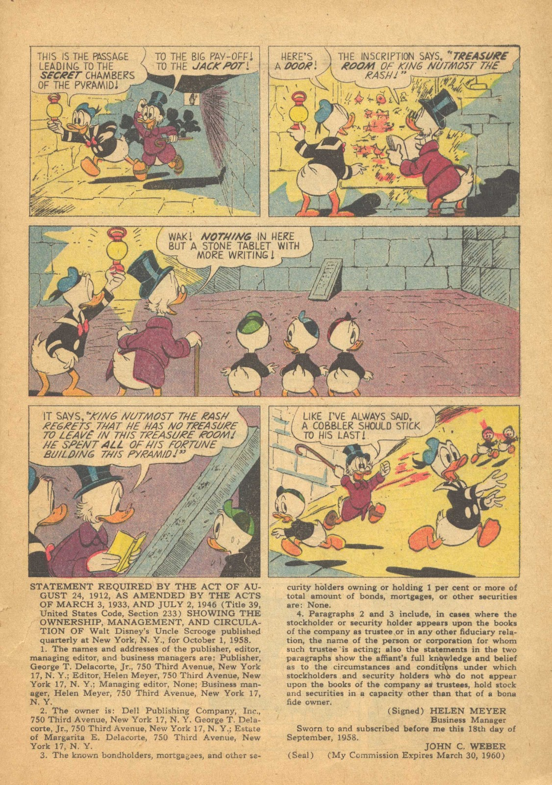 Uncle Scrooge (1953) Issue #25 #25 - English 33