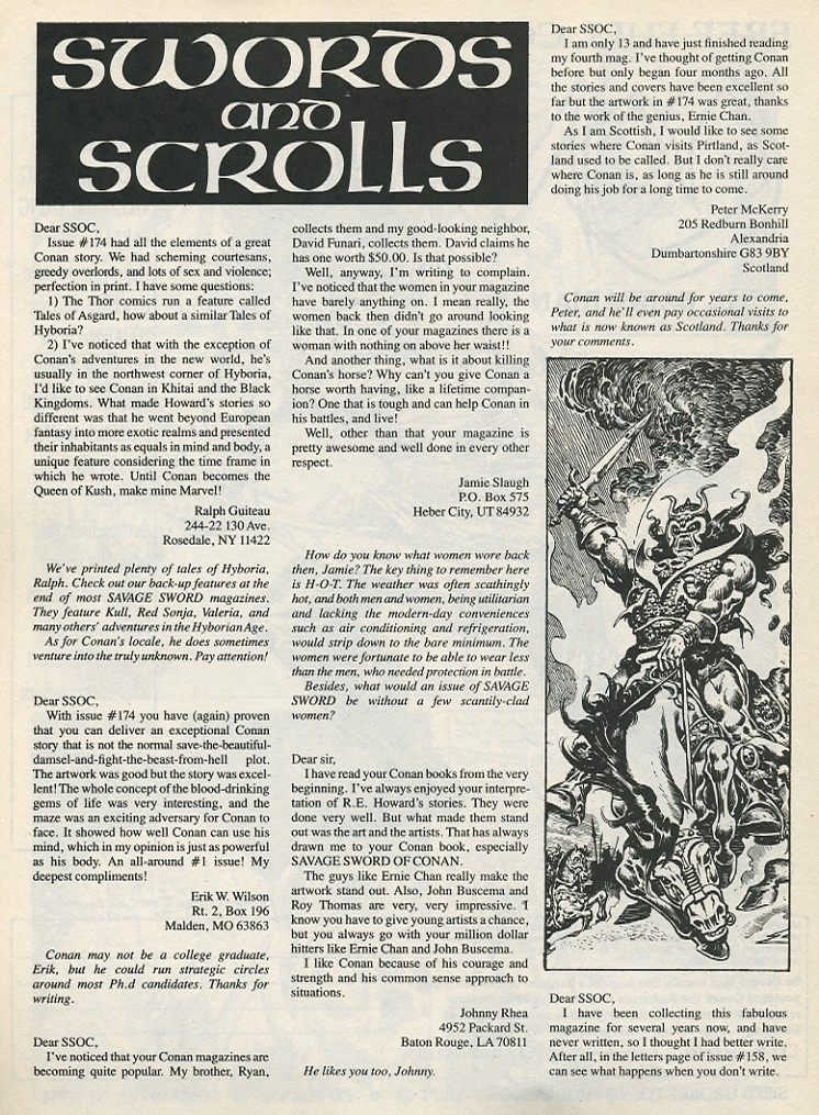 The Savage Sword Of Conan Issue #178 #179 - English 64