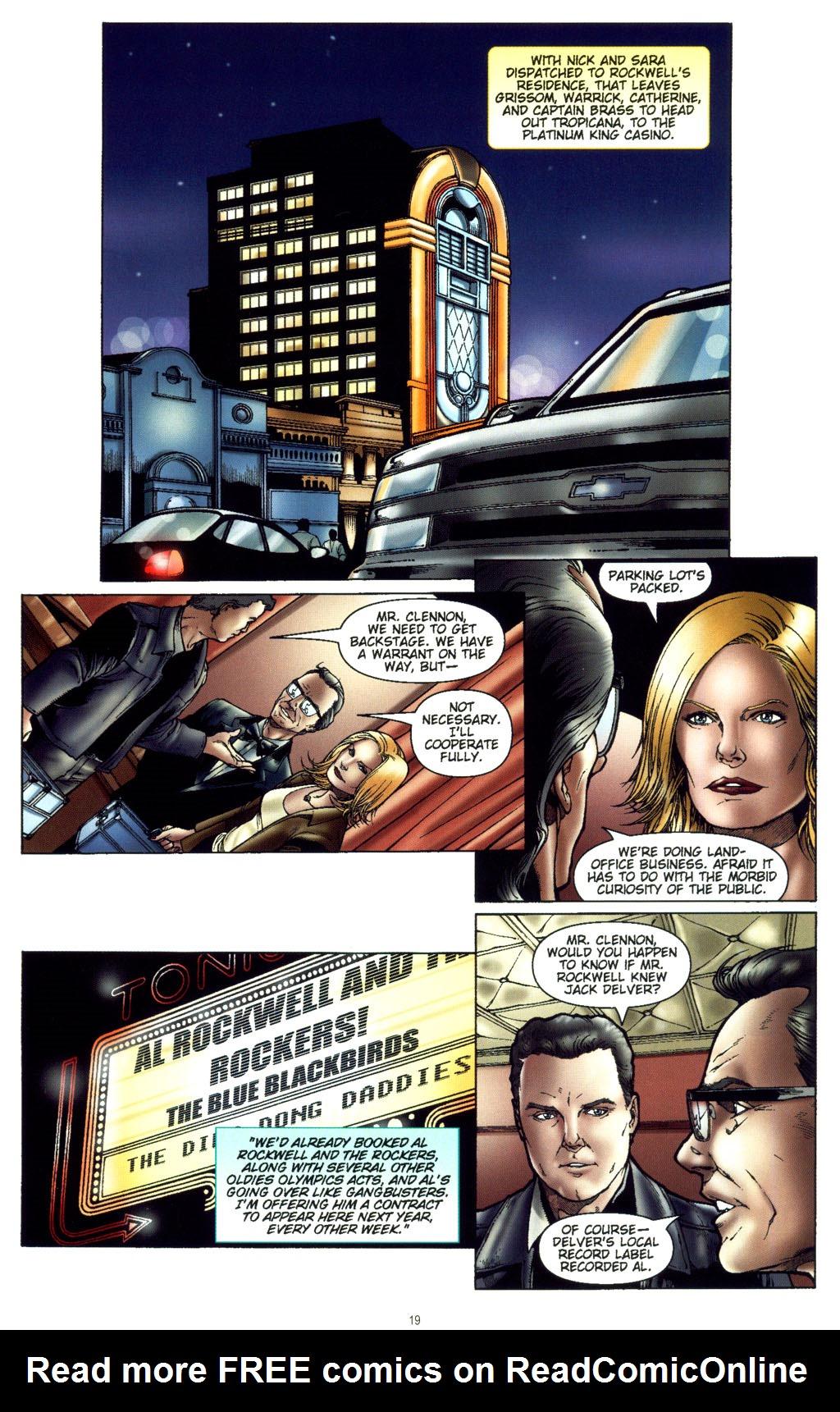 Read online CSI: Crime Scene Investigation: Bad Rap comic -  Issue #5 - 22