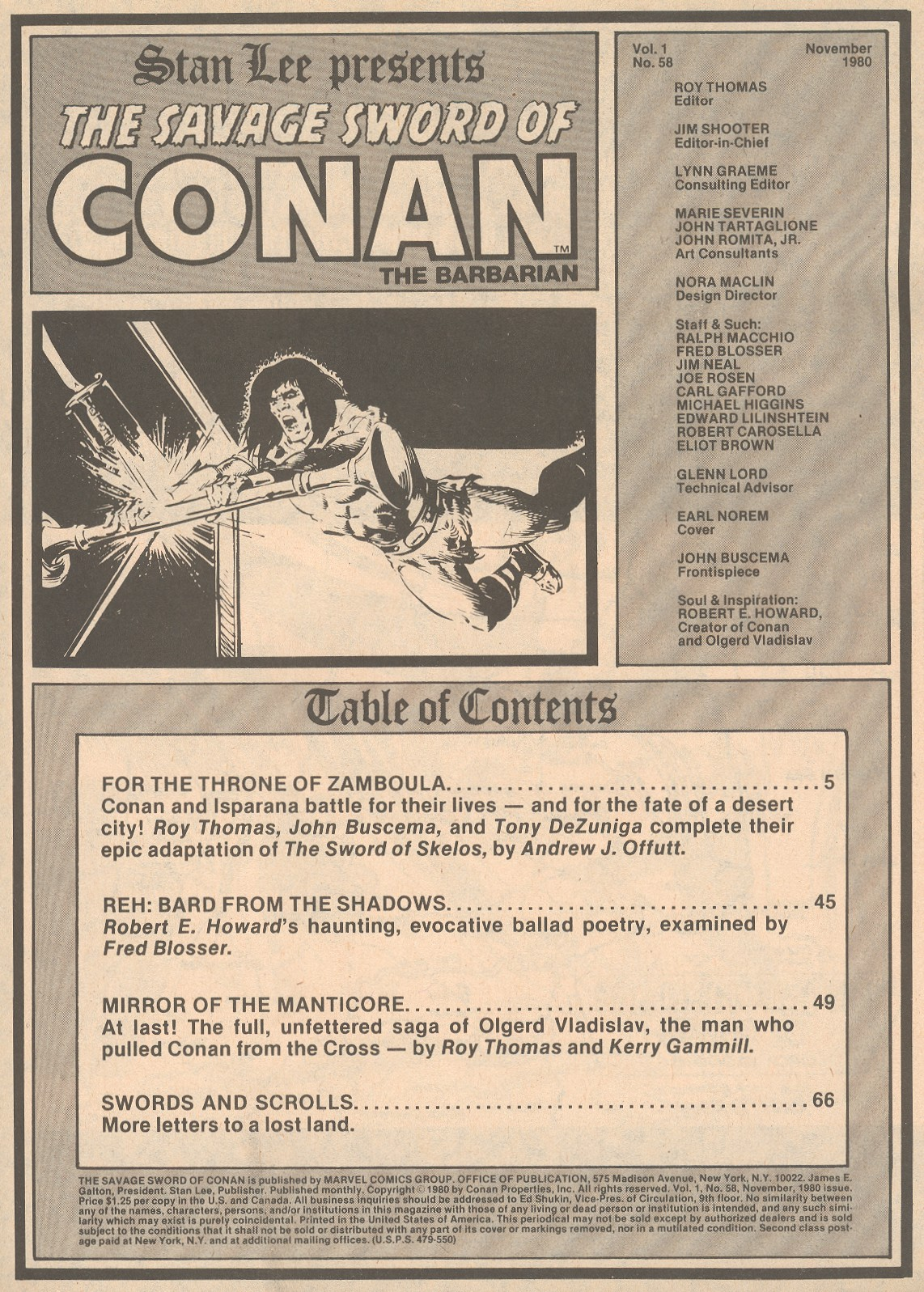 The Savage Sword Of Conan Issue #58 #59 - English 3