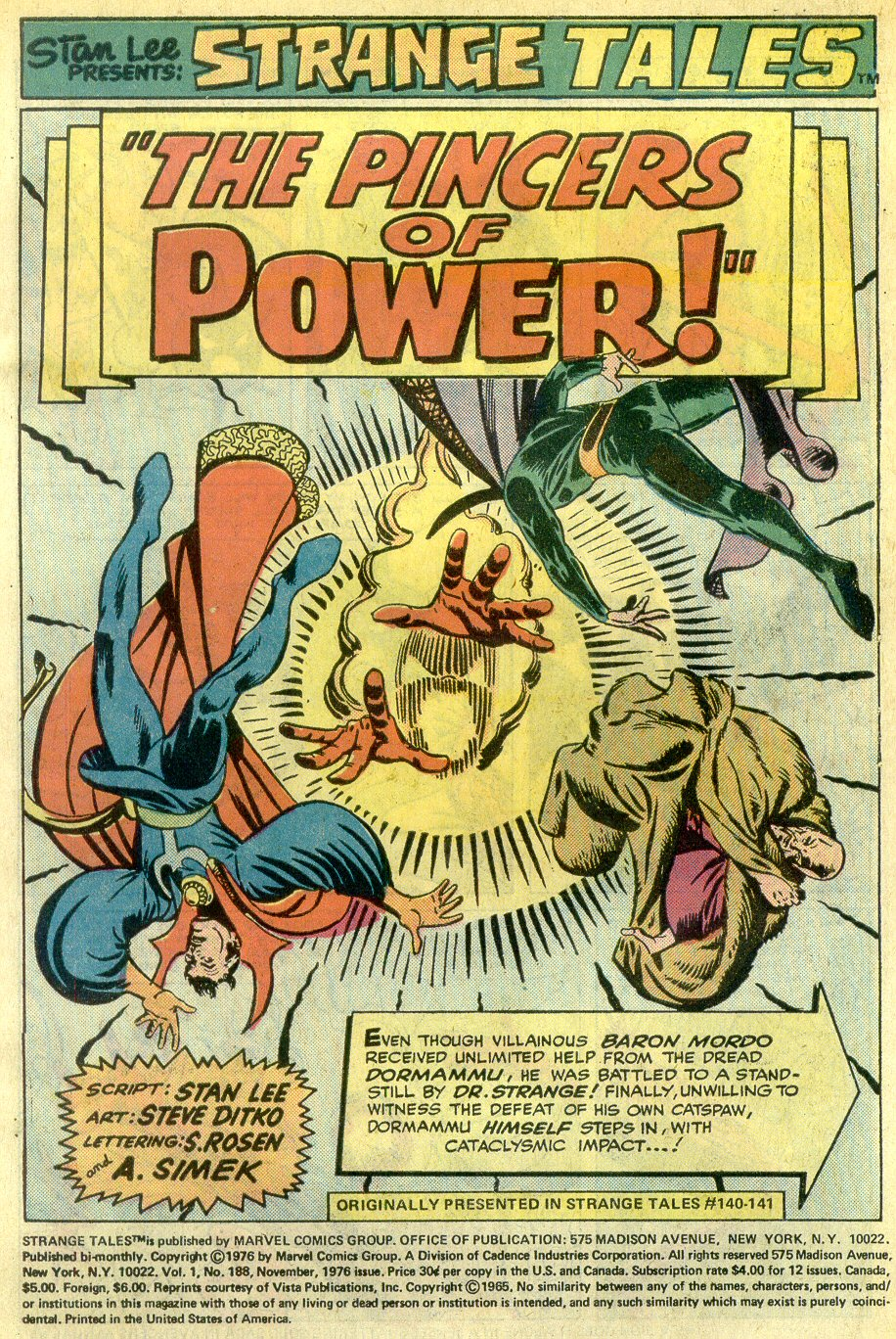 Strange Tales (1951) Issue #188 #190 - English 3