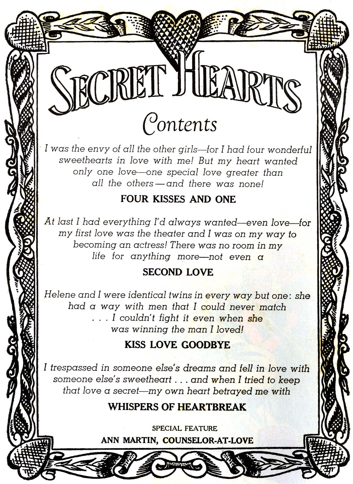 Read online Secret Hearts comic -  Issue #52 - 2