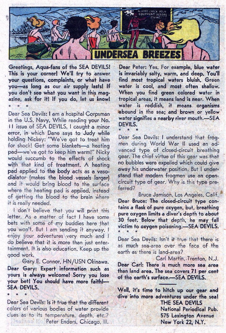 Read online Sea Devils comic -  Issue #13 - 22