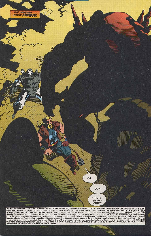 Read online Secret Defenders comic -  Issue #10 - 2