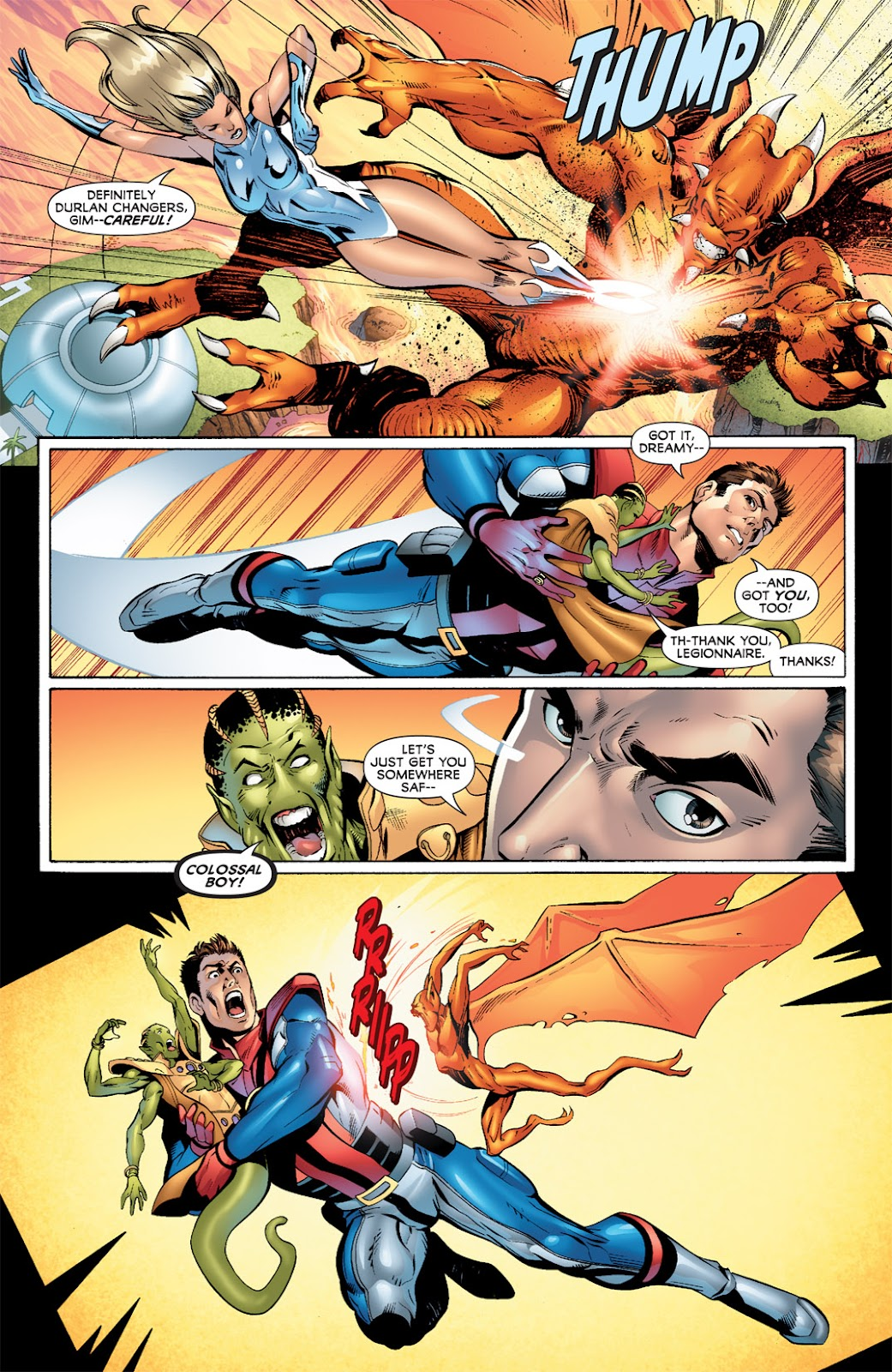 Legion of Super-Heroes (2010) Issue #8 #9 - English 6