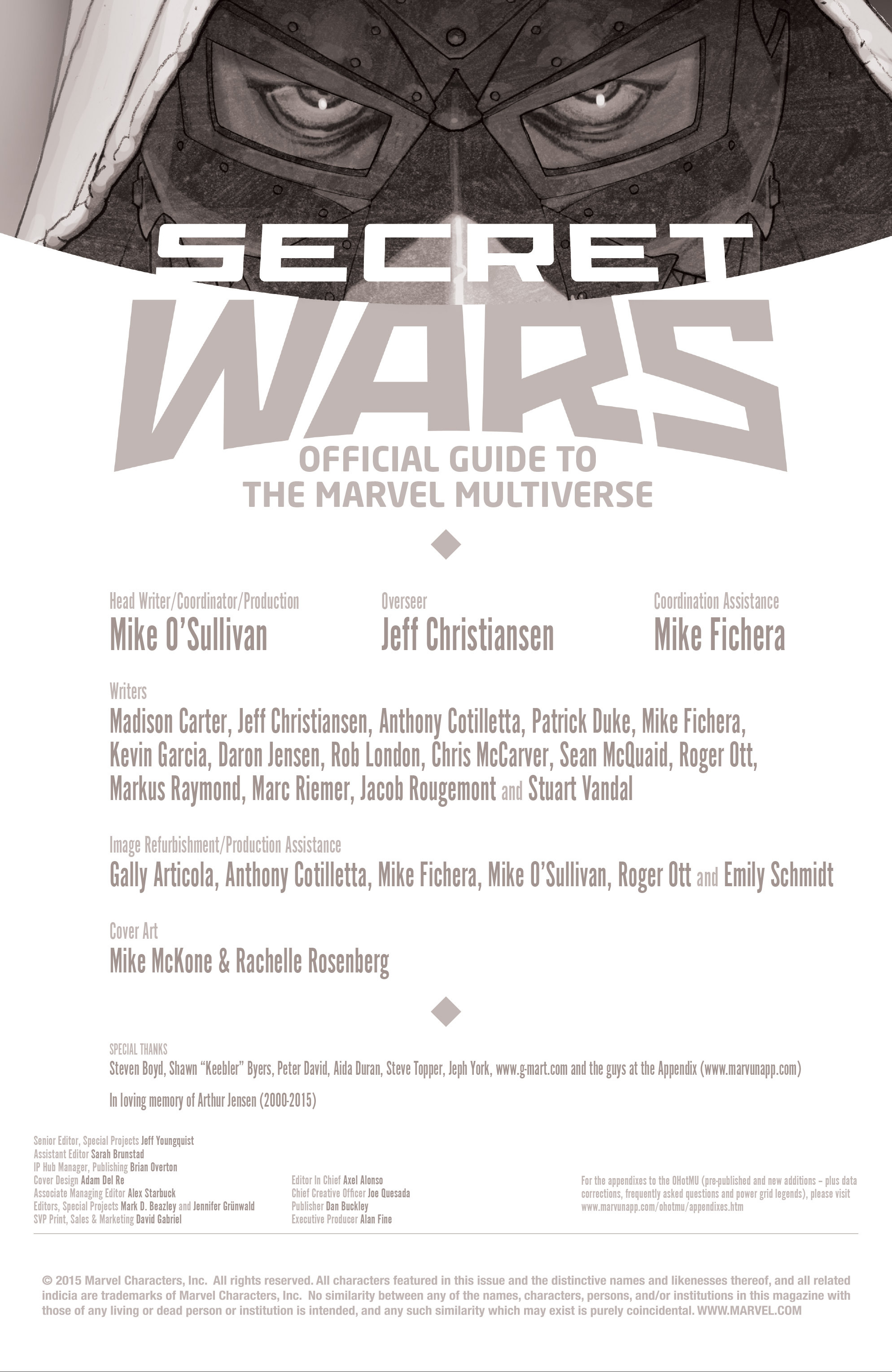 Read online Secret Wars: Official Guide to the Marvel Multiverse comic -  Issue # Full - 2