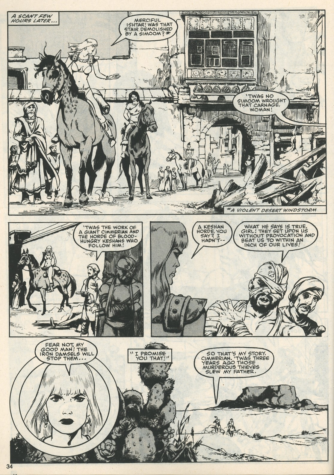 The Savage Sword Of Conan Issue #111 #112 - English 35