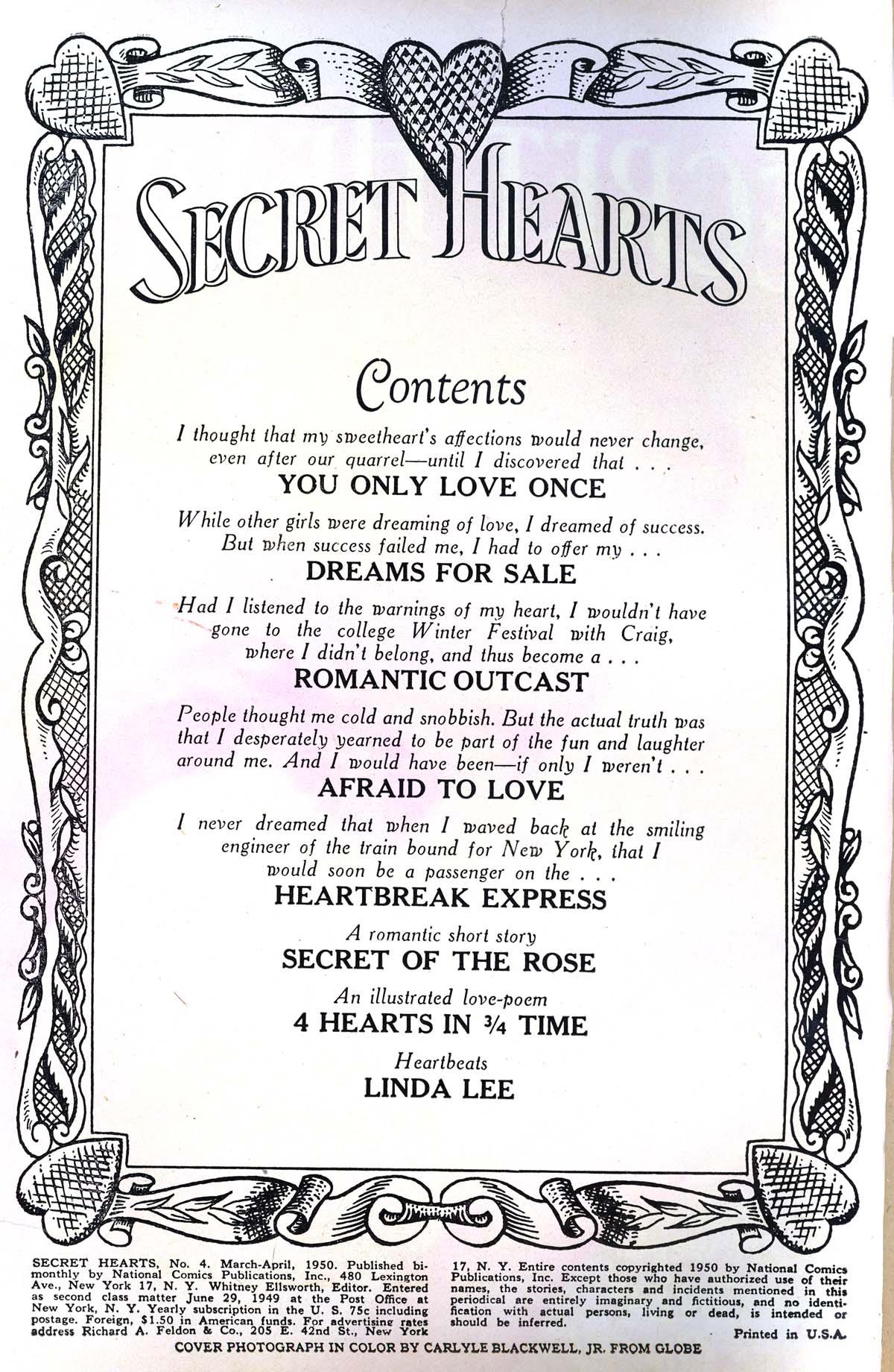 Read online Secret Hearts comic -  Issue #4 - 2