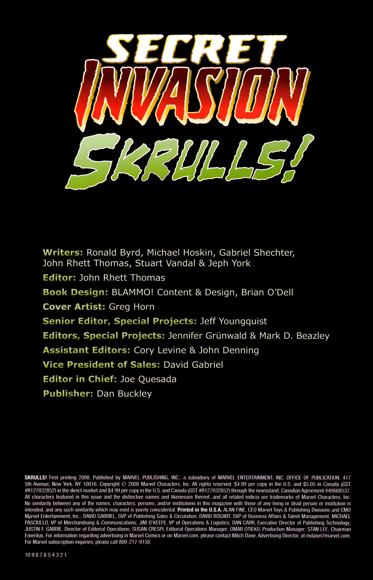 Read online Skrulls! comic -  Issue # Full - 2