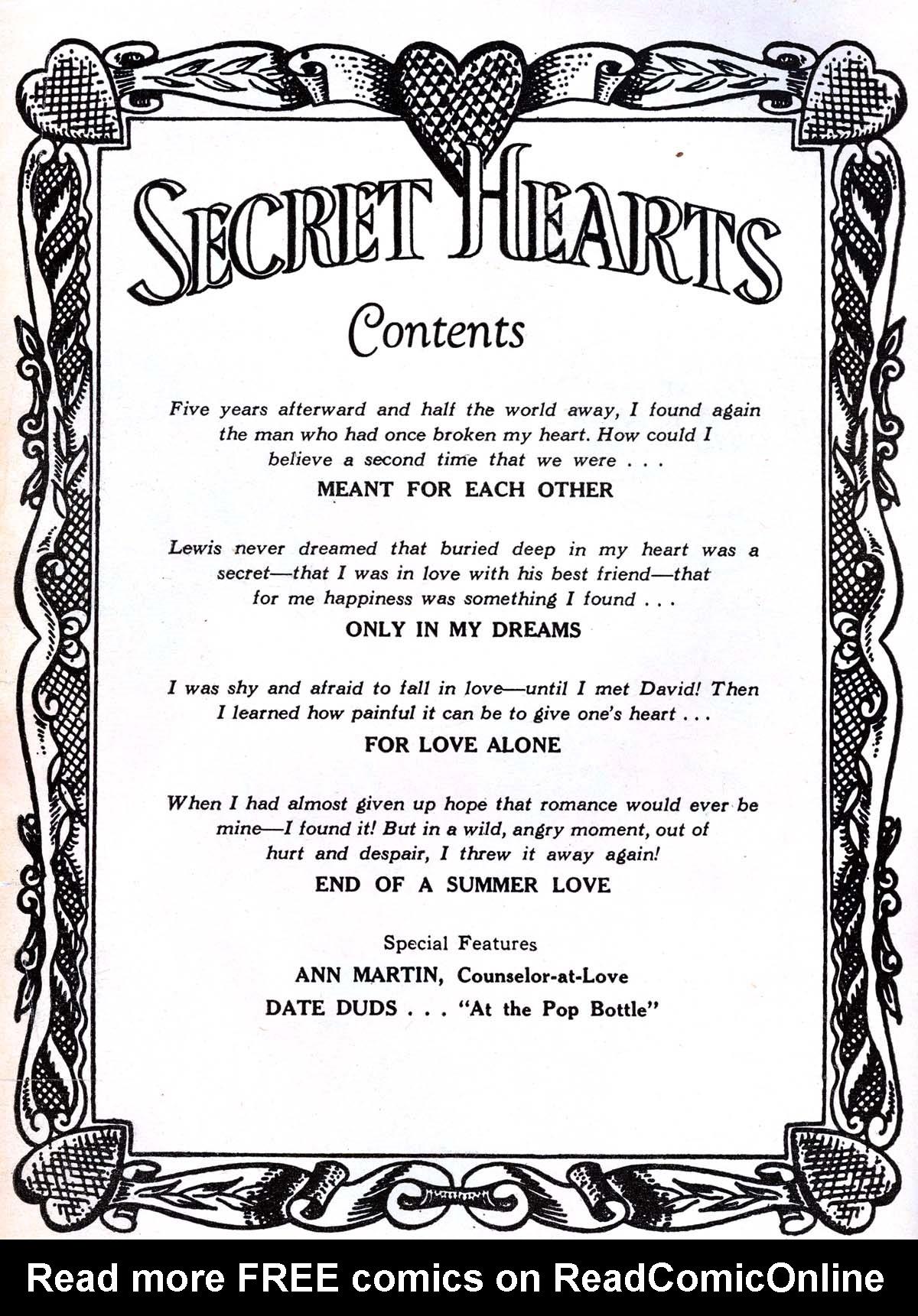 Read online Secret Hearts comic -  Issue #36 - 2