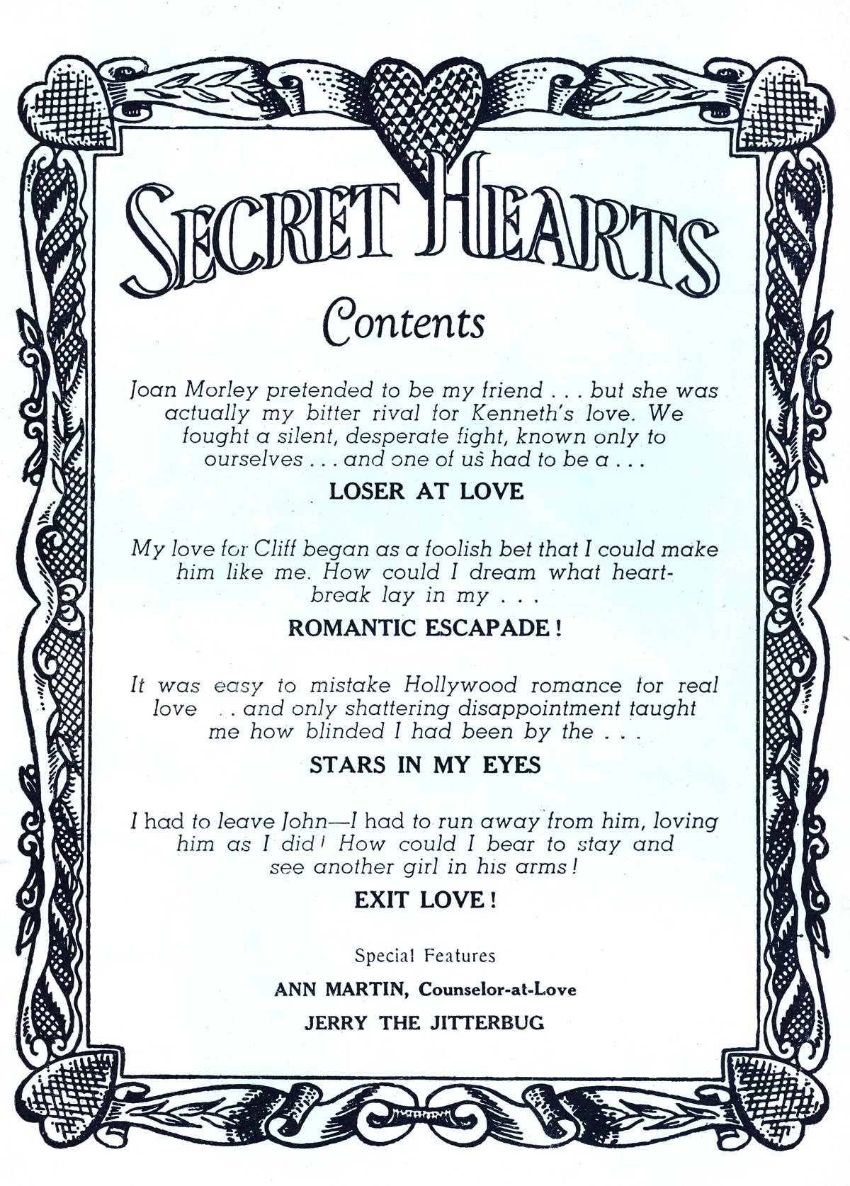 Read online Secret Hearts comic -  Issue #37 - 2