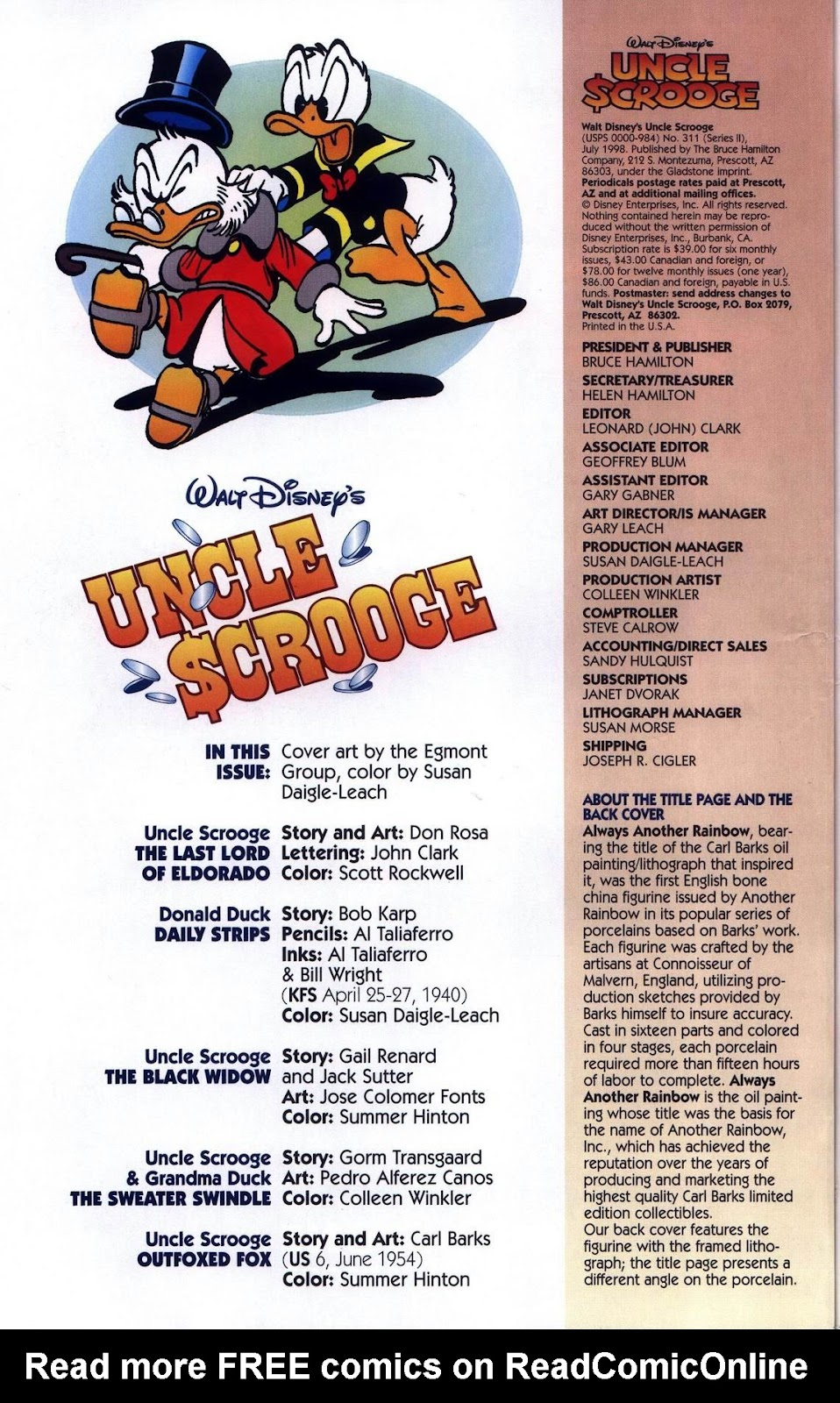Uncle Scrooge (1953) Issue #311 #311 - English 4