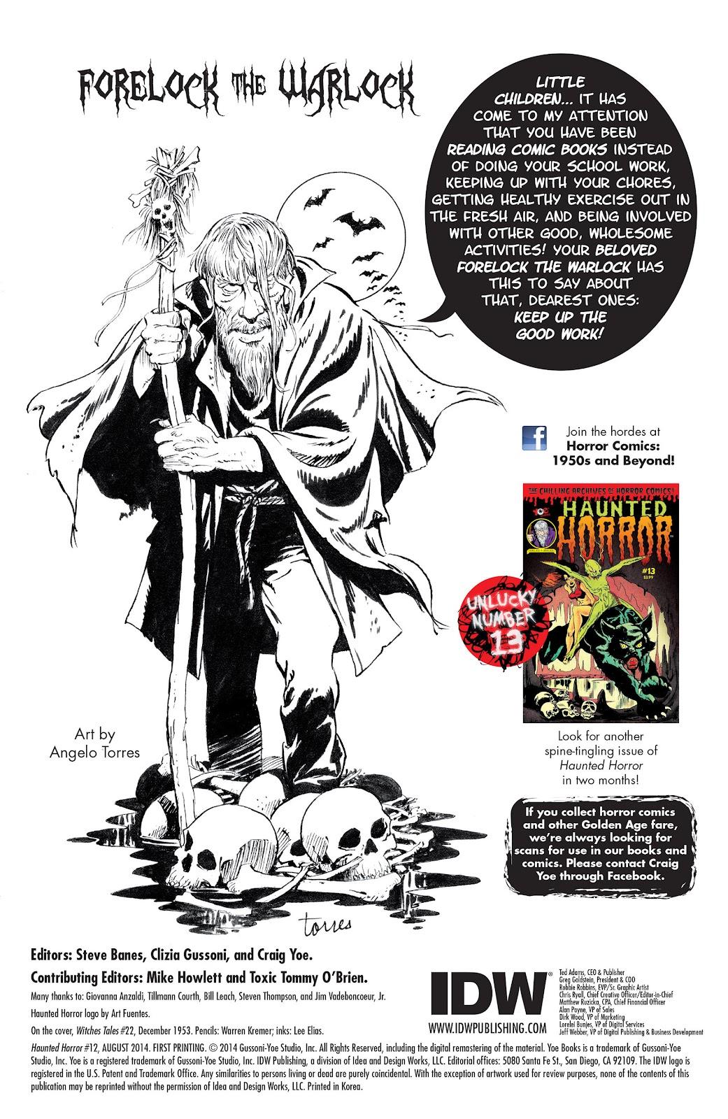 Haunted Horror Issue #12 #12 - English 2