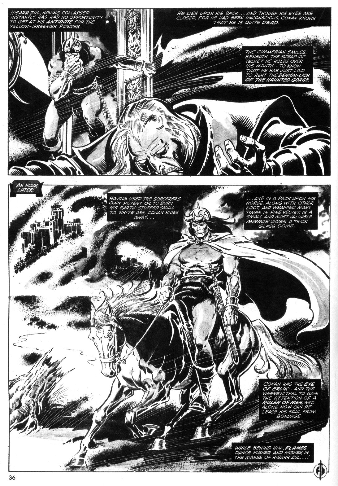 The Savage Sword Of Conan Issue #55 #56 - English 36