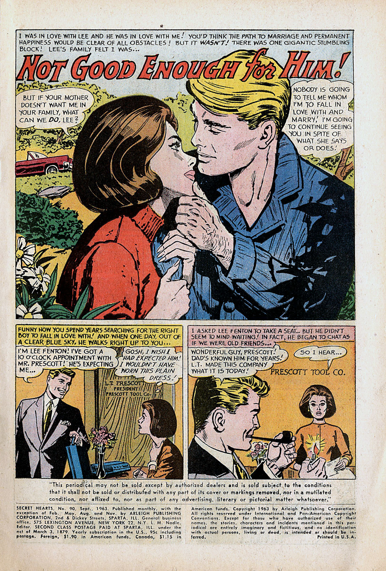 Read online Secret Hearts comic -  Issue #90 - 3
