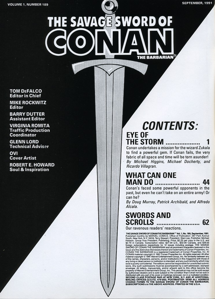 The Savage Sword Of Conan Issue #189 #190 - English 2
