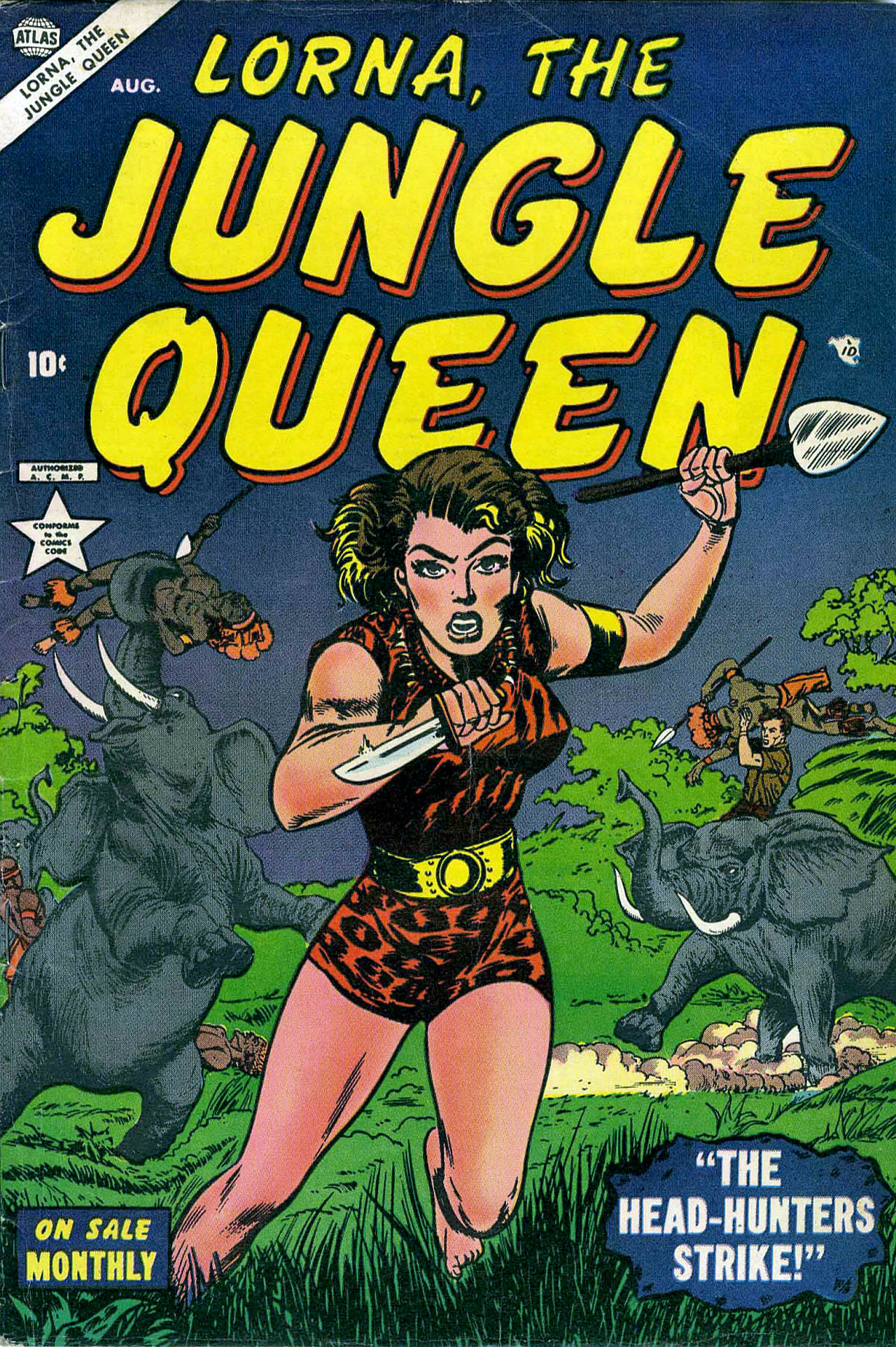 Read online Lorna, The Jungle Queen comic -  Issue #2 - 1