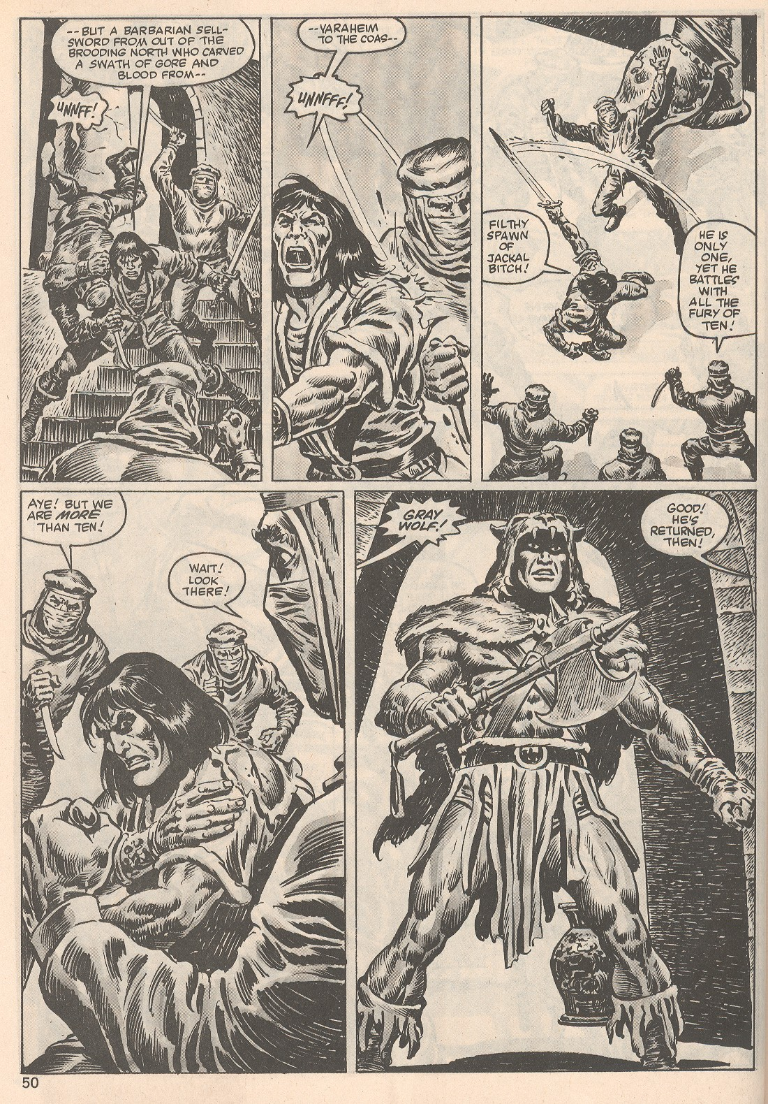 The Savage Sword Of Conan Issue #104 #105 - English 50