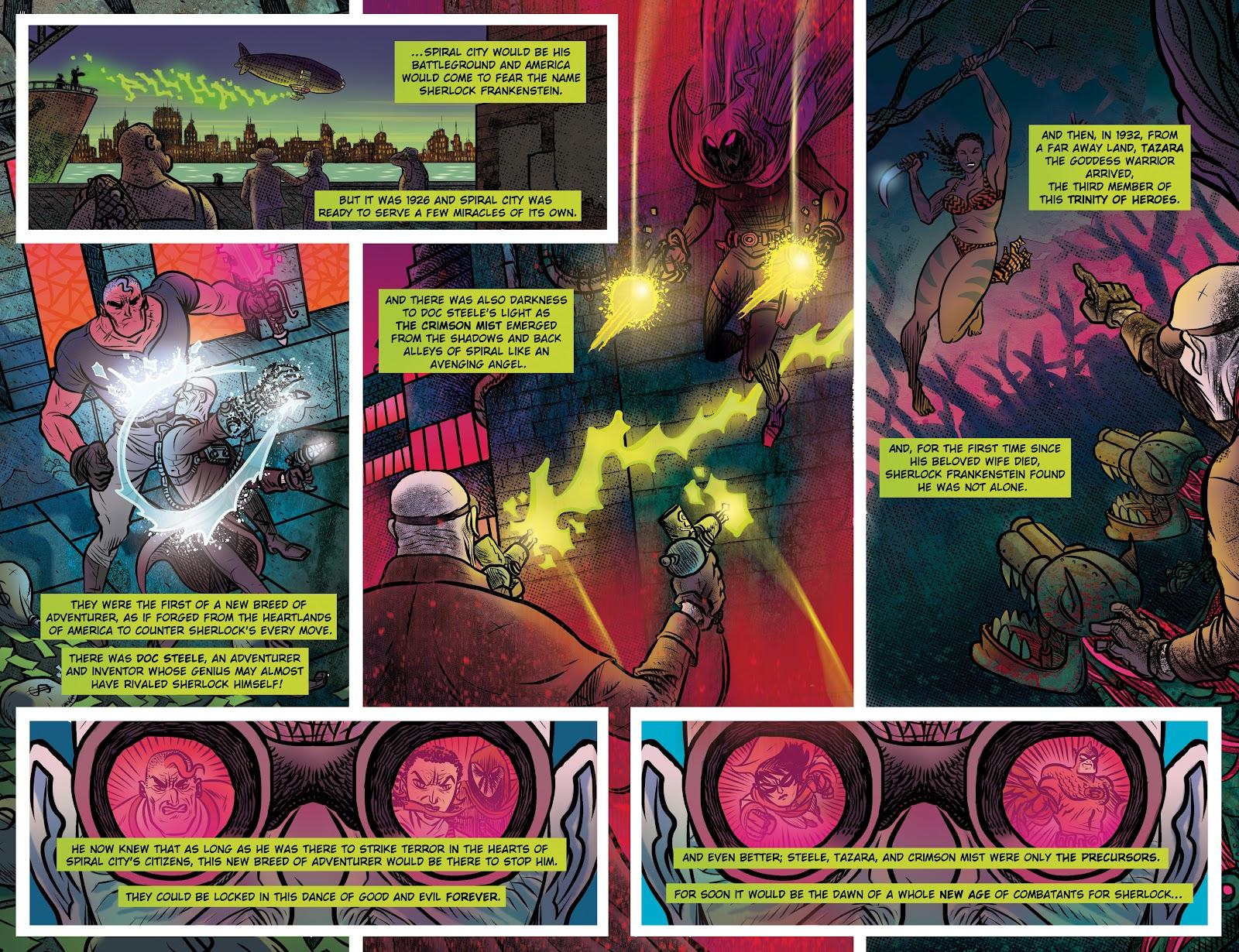 Read online Sherlock Frankenstein and the Legion of Evil comic -  Issue #4 - 7