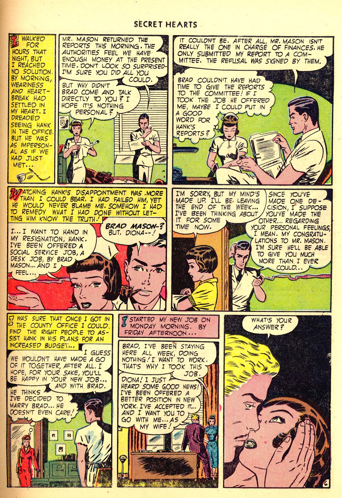 Read online Secret Hearts comic -  Issue #6 - 35