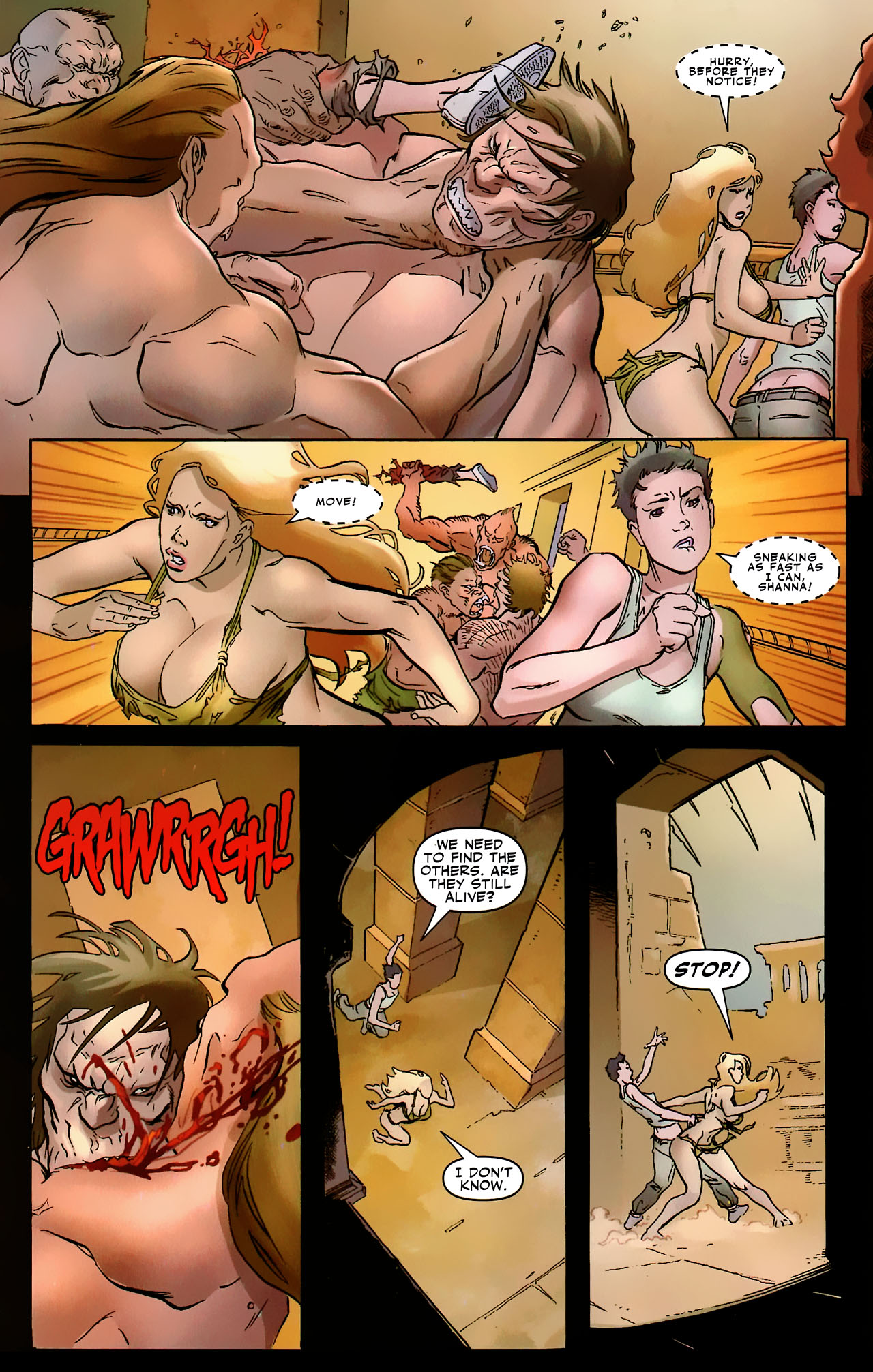 Read online Shanna the She-Devil: Survival of the Fittest comic -  Issue #2 - 20