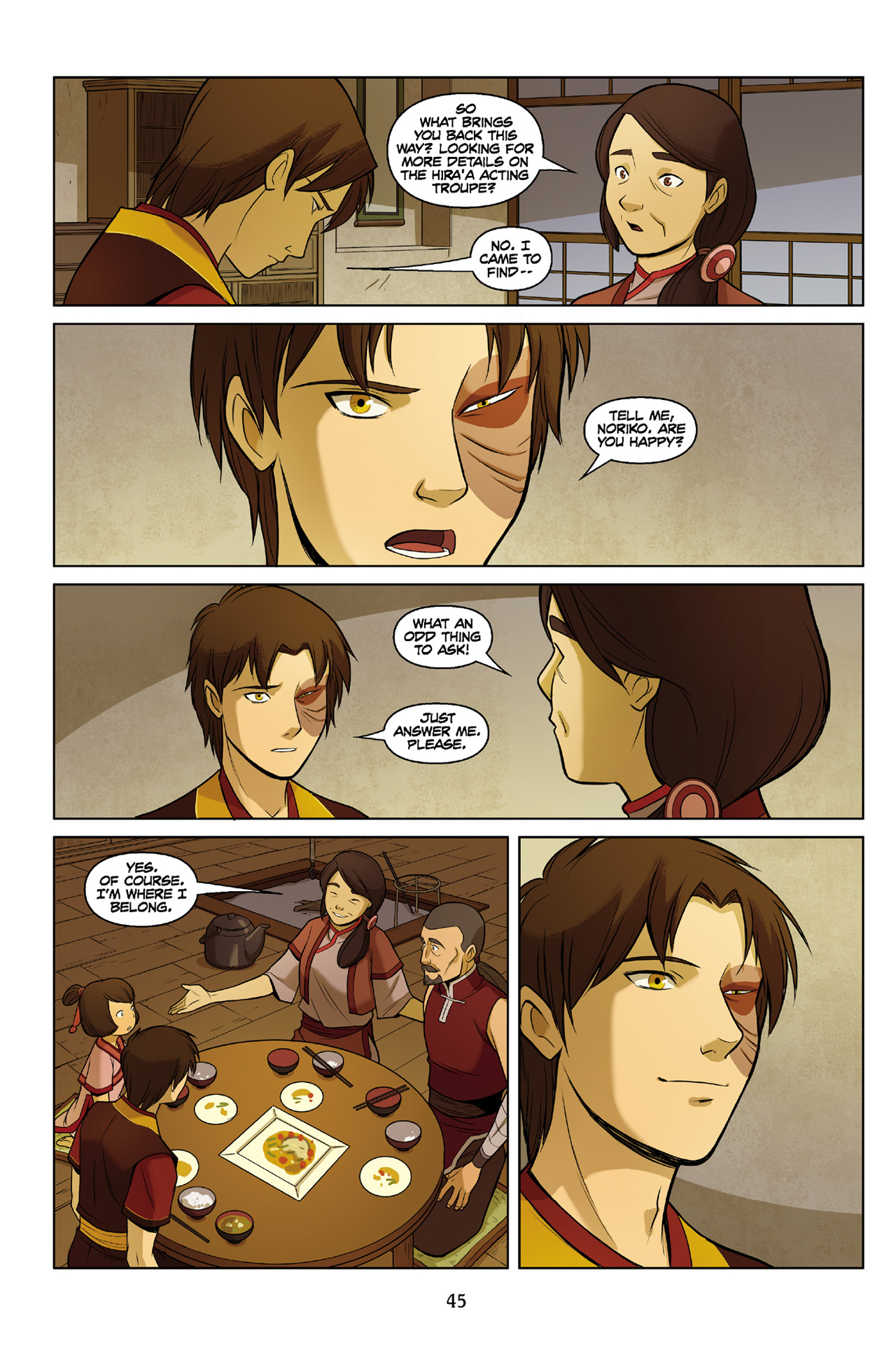 Read online Nickelodeon Avatar: The Last Airbender - The Search comic -  Issue # Part 3 - 46