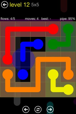 تطبيق Flow Free v2.1 لعبة الذكاء المدمنة