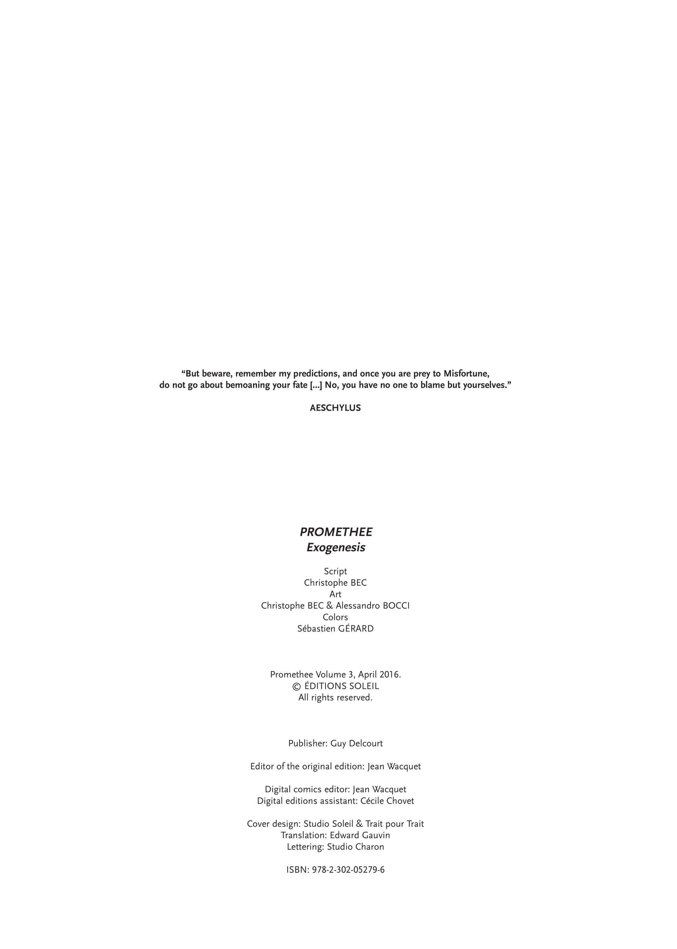 Promethee #3 #17 - English 2