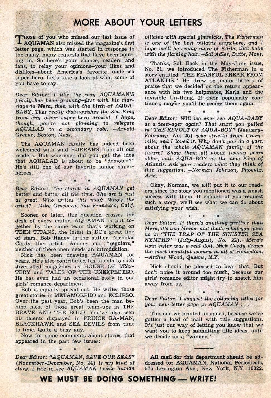 Aquaman (1962) Issue #27 #27 - English 34