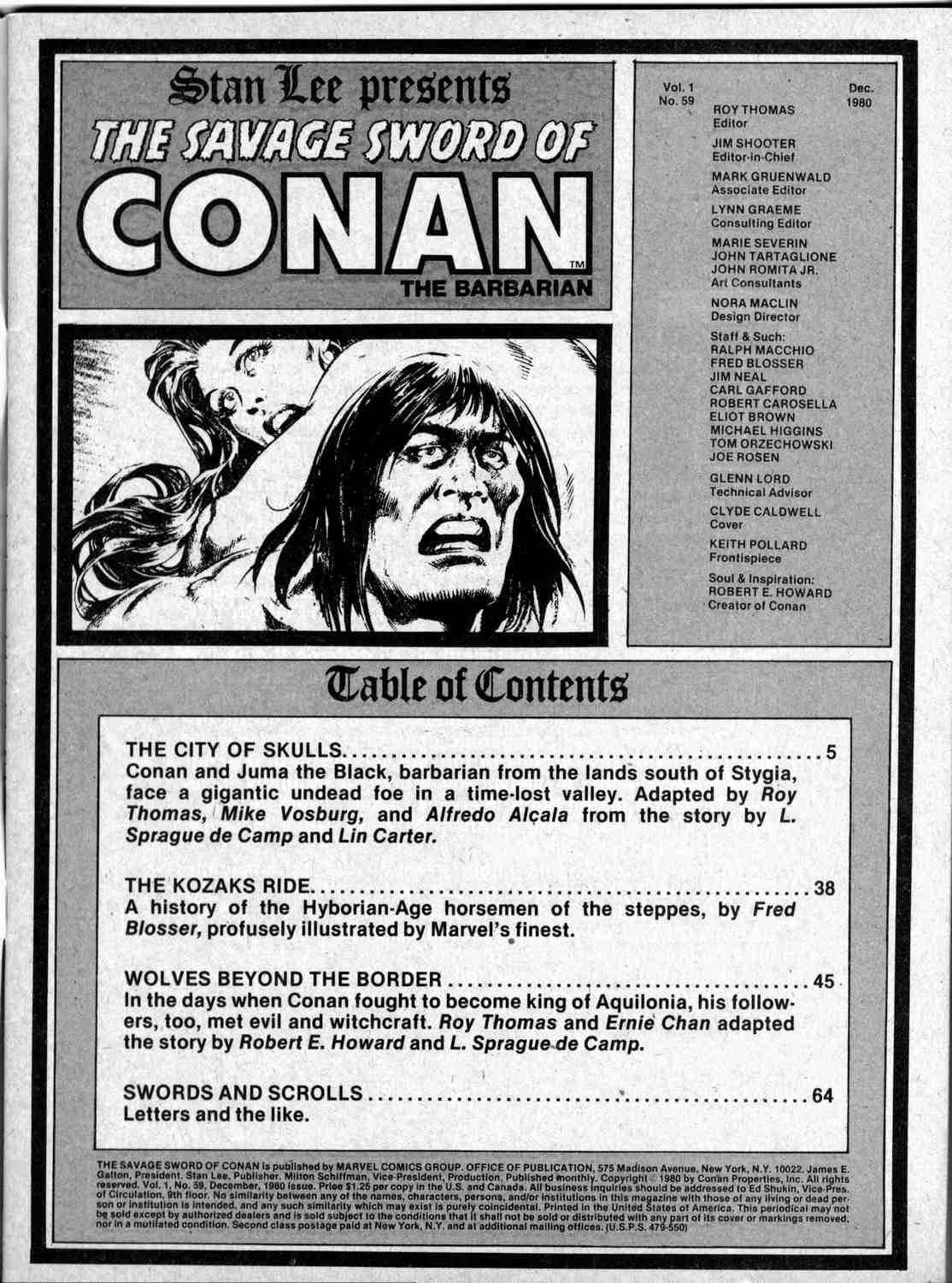 The Savage Sword Of Conan Issue #59 #60 - English 3