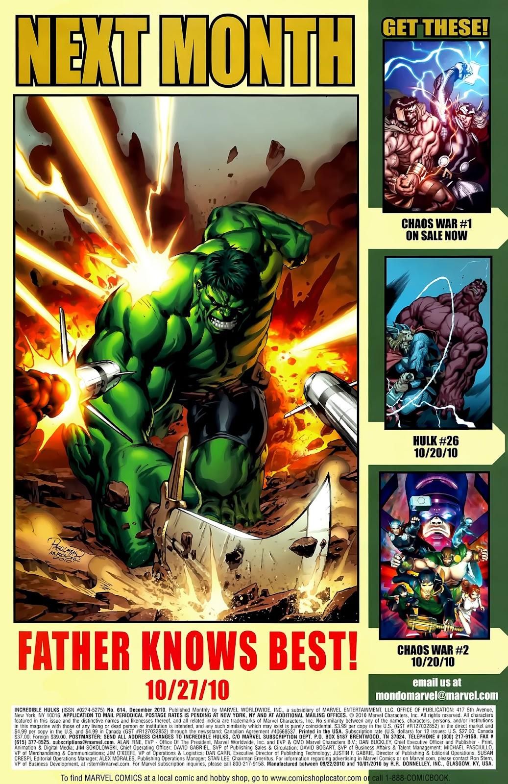 Incredible Hulks (2010) Issue #614 #4 - English 30