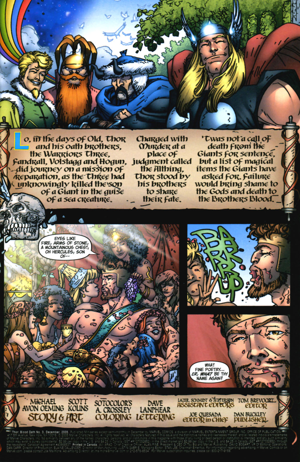 Read online Thor: Blood Oath comic -  Issue #3 - 2