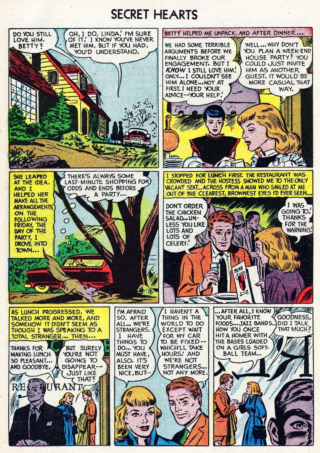 Read online Secret Hearts comic -  Issue #16 - 18