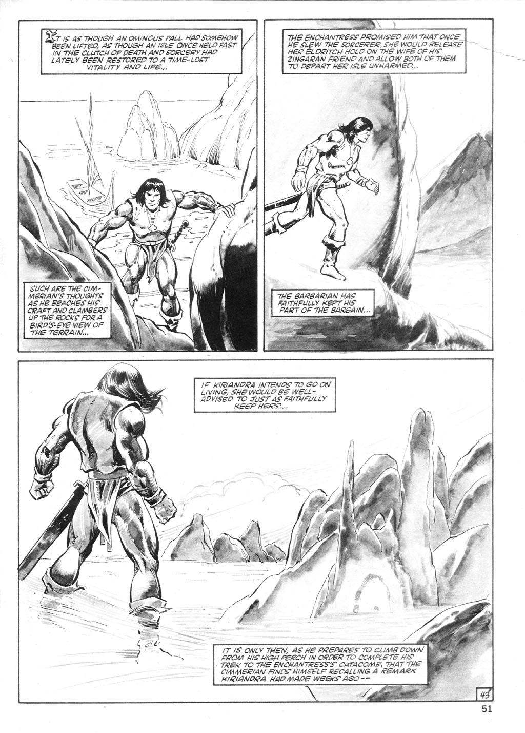The Savage Sword Of Conan Issue #94 #95 - English 50