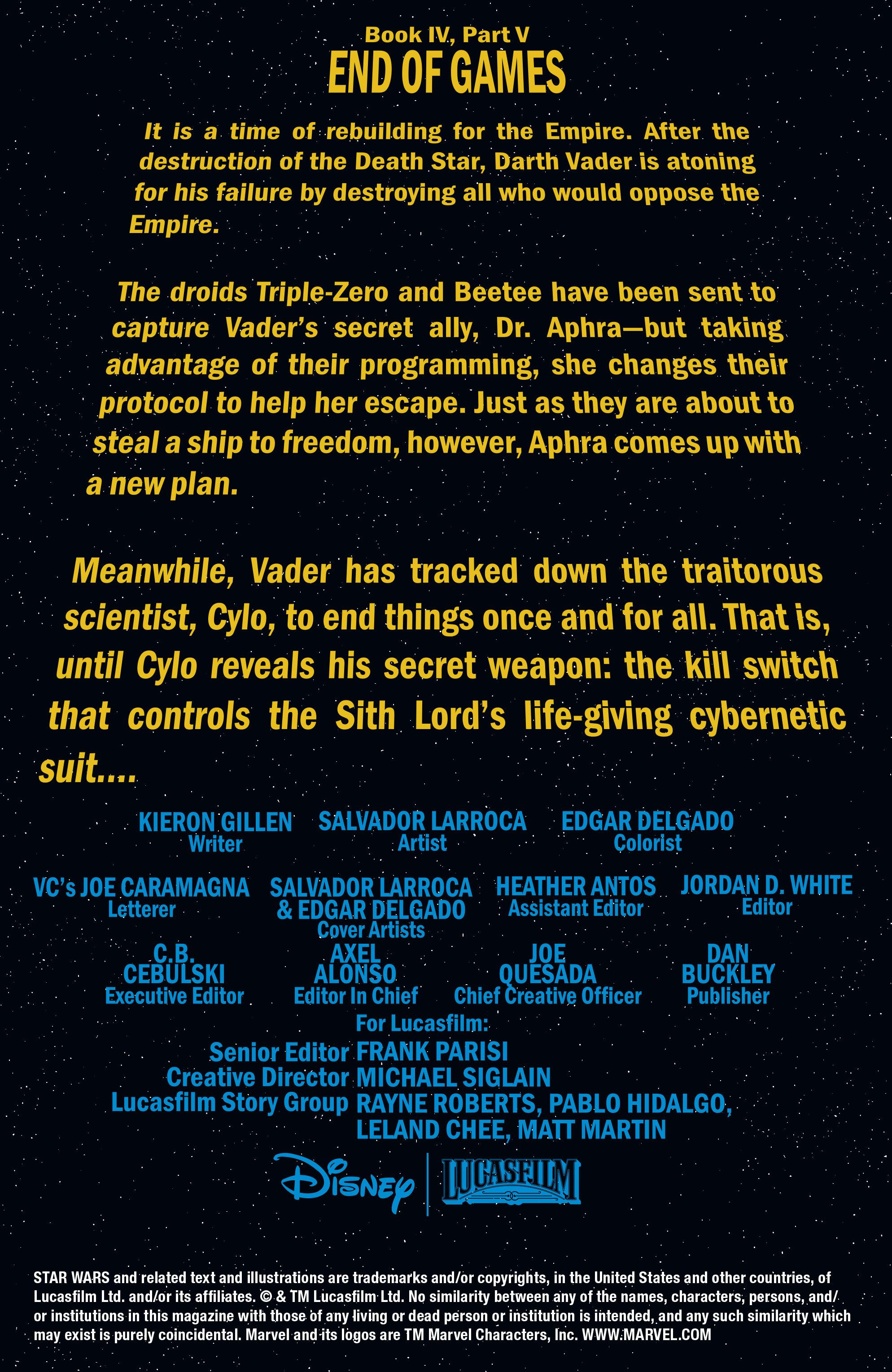 Read online Darth Vader comic -  Issue #24 - 2