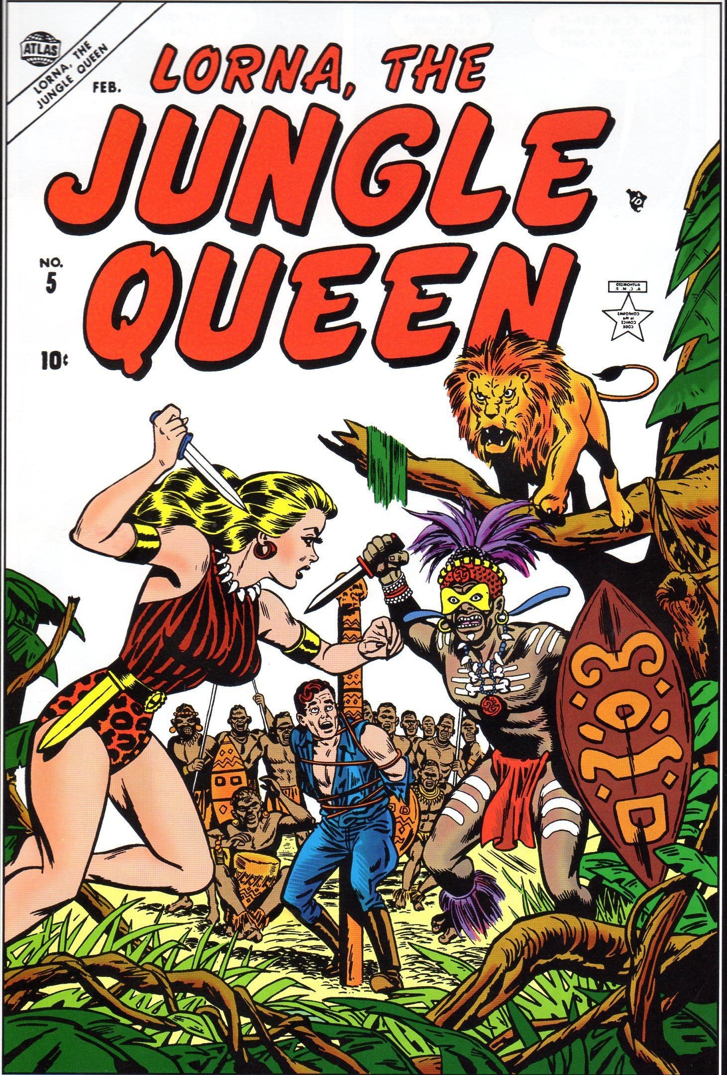 Read online Lorna, The Jungle Queen comic -  Issue #5 - 1