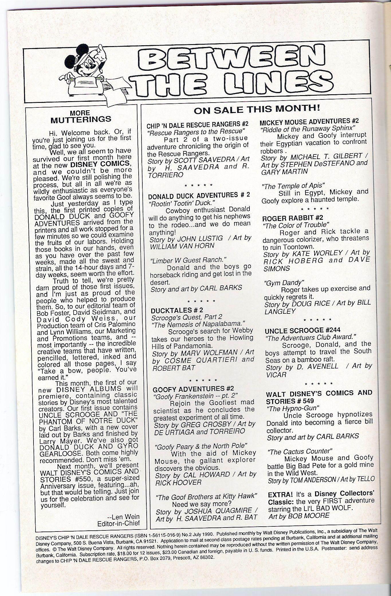 Disneys Chip N Dale Rescue Rangers 2 Page 2