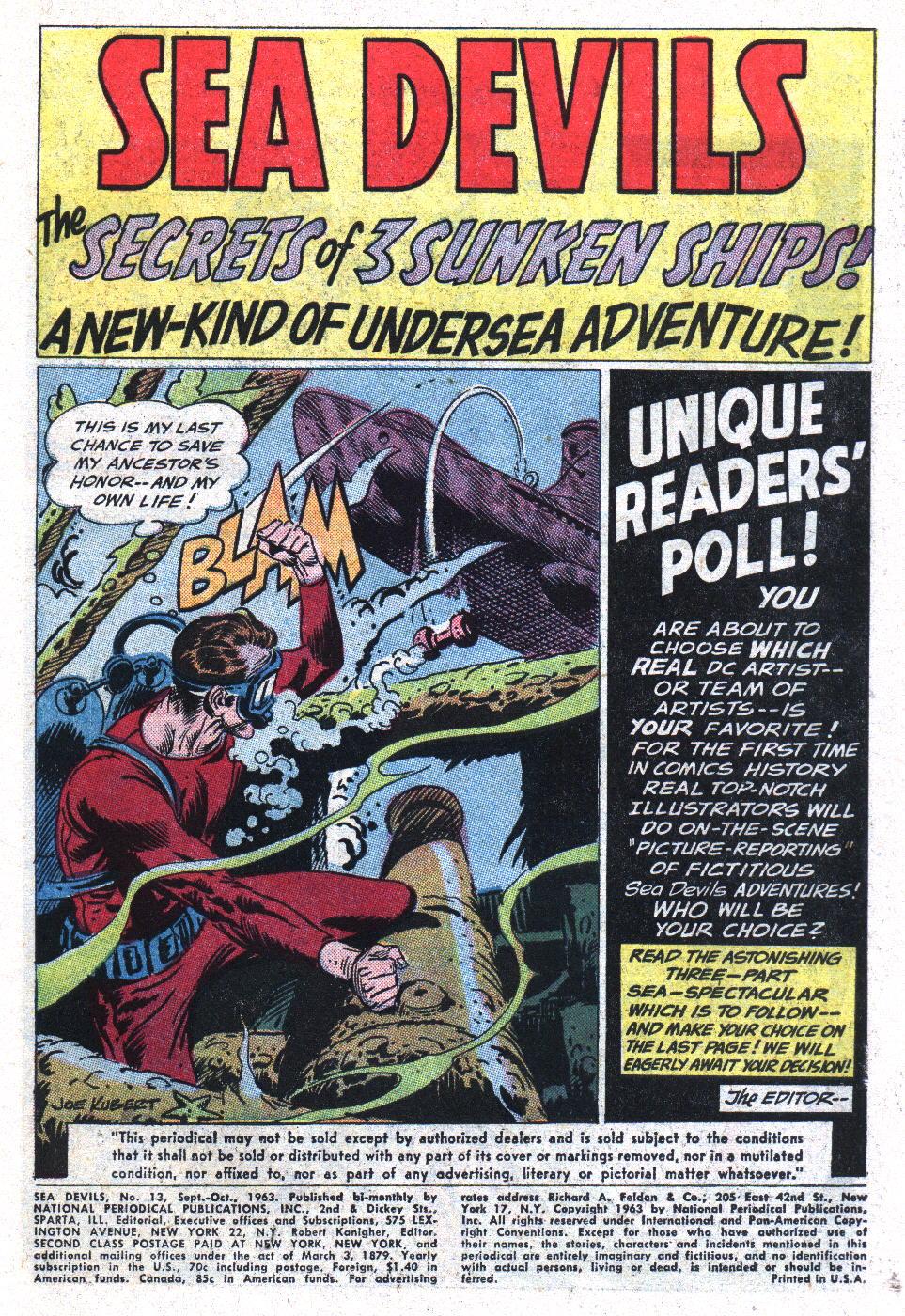 Read online Sea Devils comic -  Issue #13 - 3