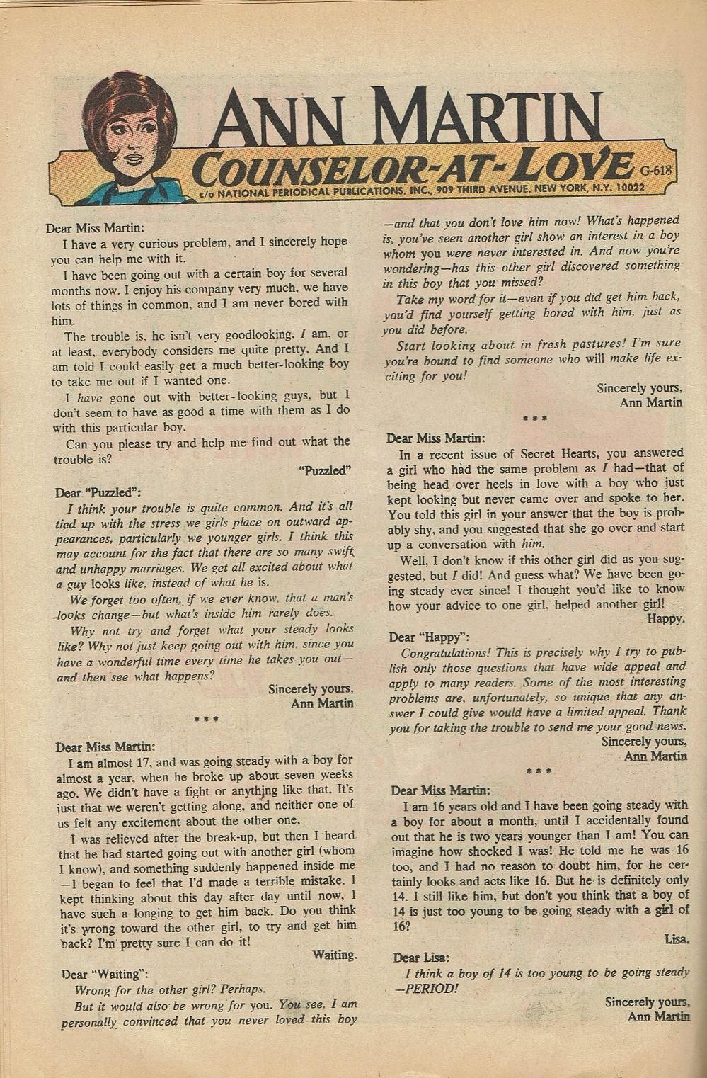 Read online Secret Hearts comic -  Issue #144 - 22