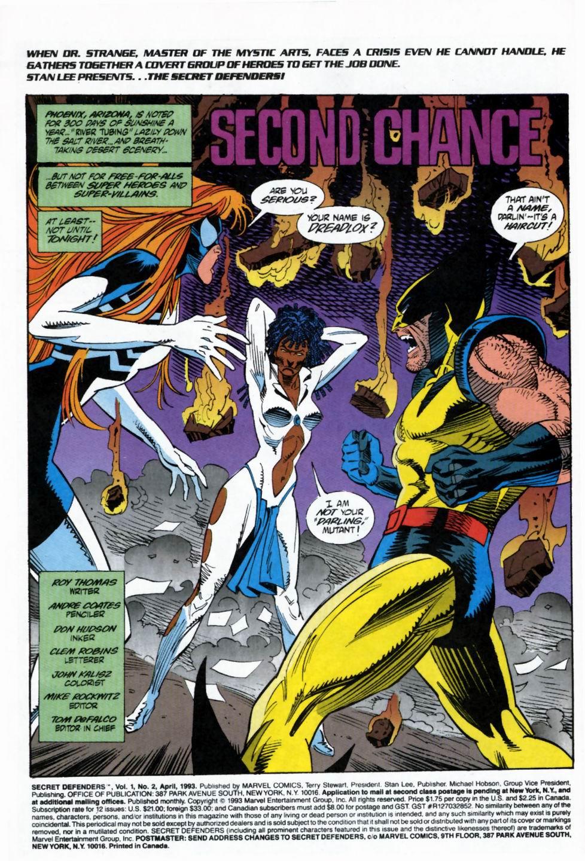 Read online Secret Defenders comic -  Issue #2 - 2