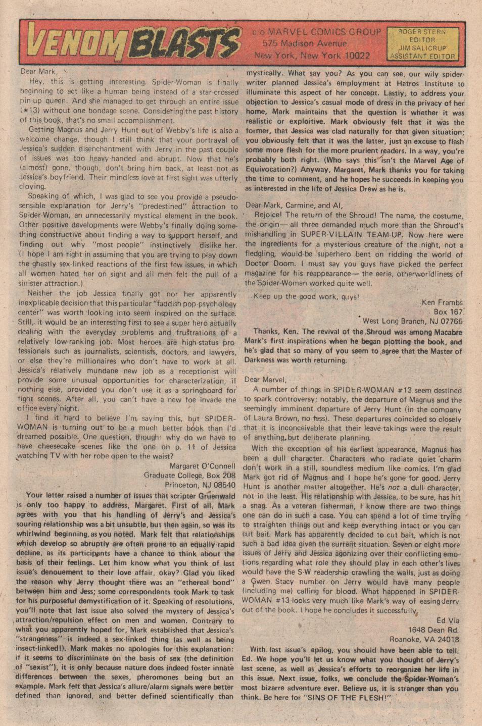 Spider-Woman (1978) #17 #34 - English 19