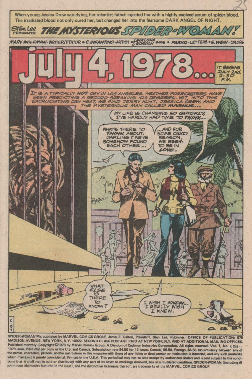 Spider-Woman (1978) Issue #7 #7 - English 2