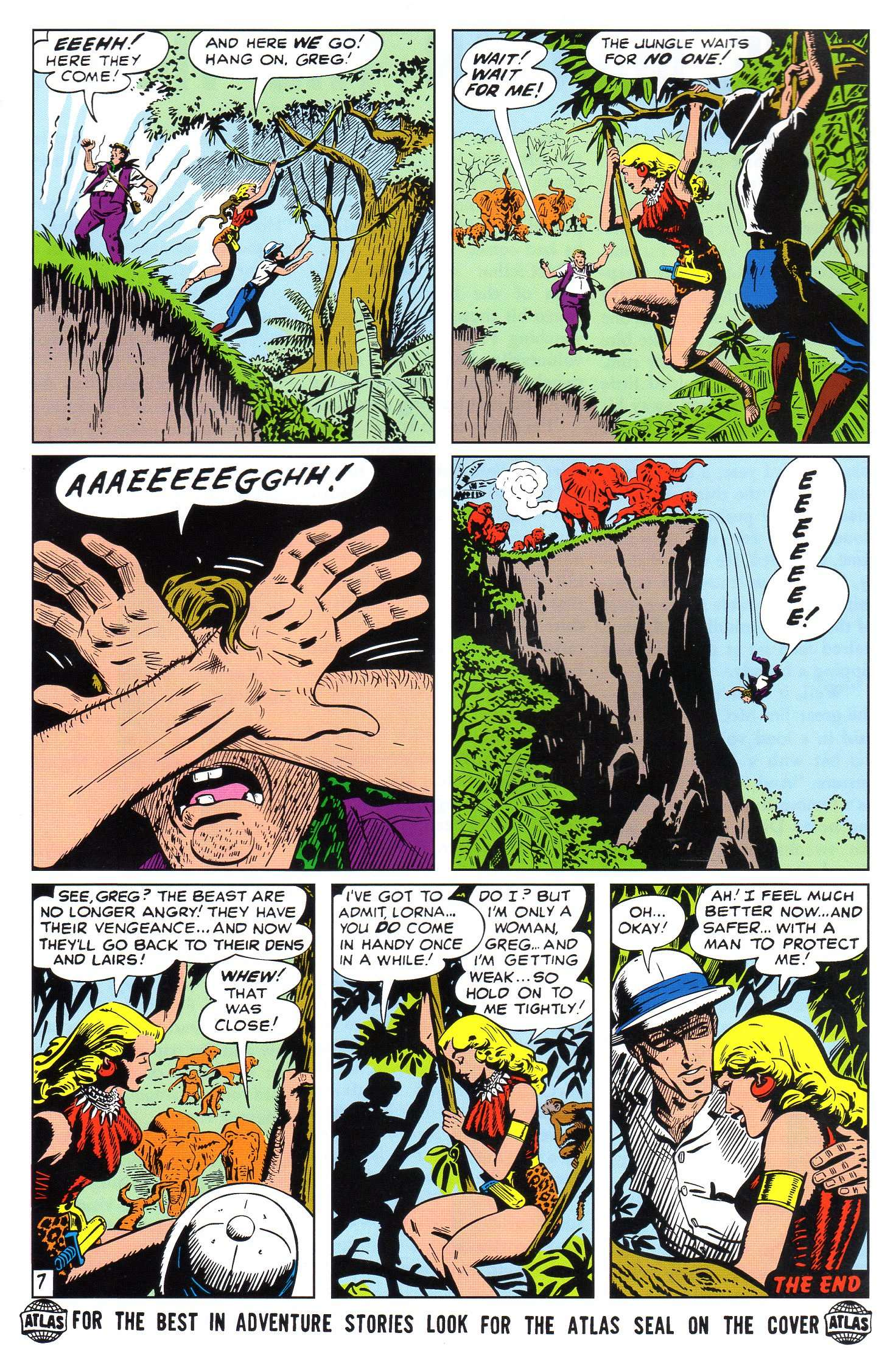 Read online Lorna, The Jungle Queen comic -  Issue #4 - 8