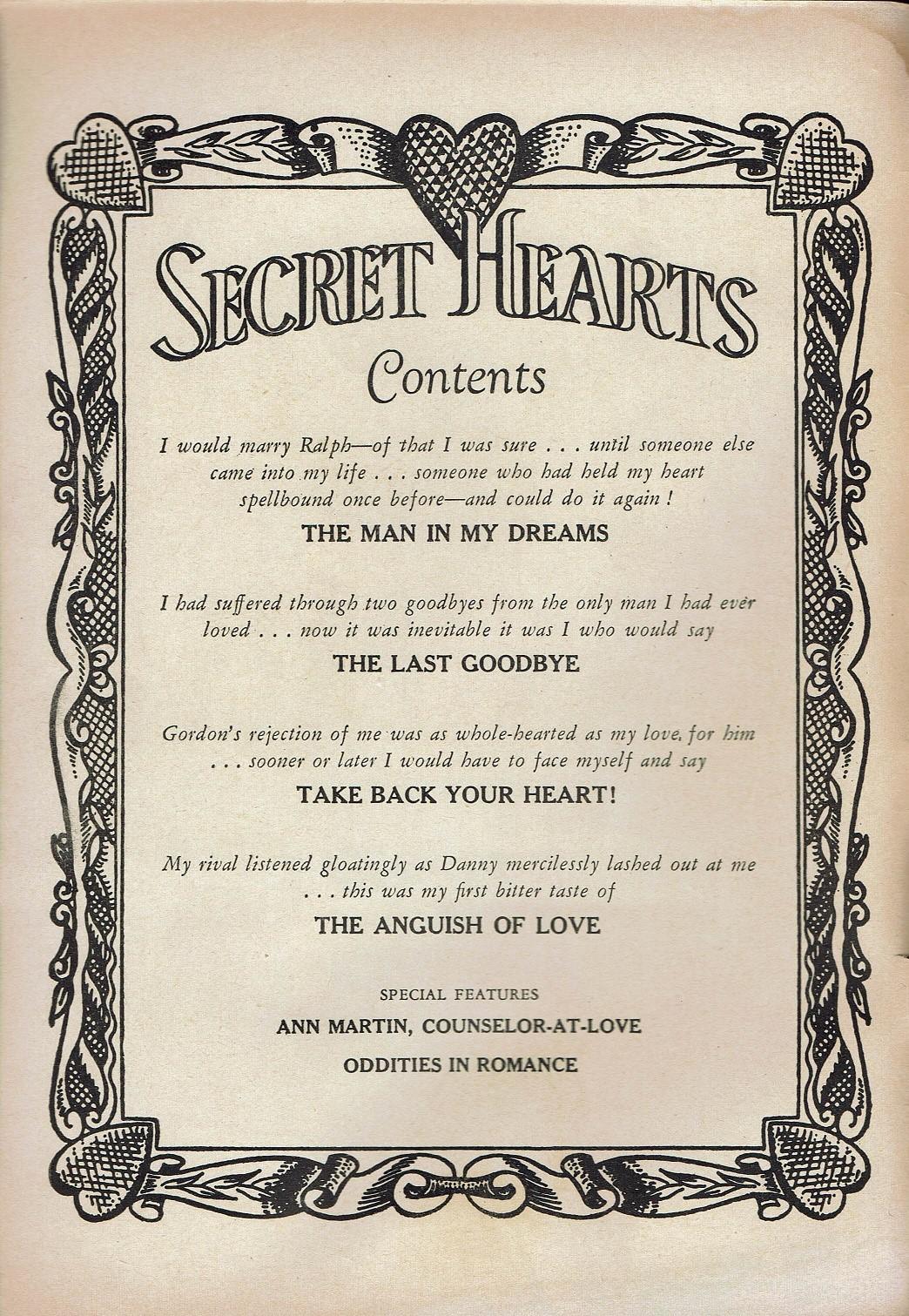 Read online Secret Hearts comic -  Issue #47 - 2