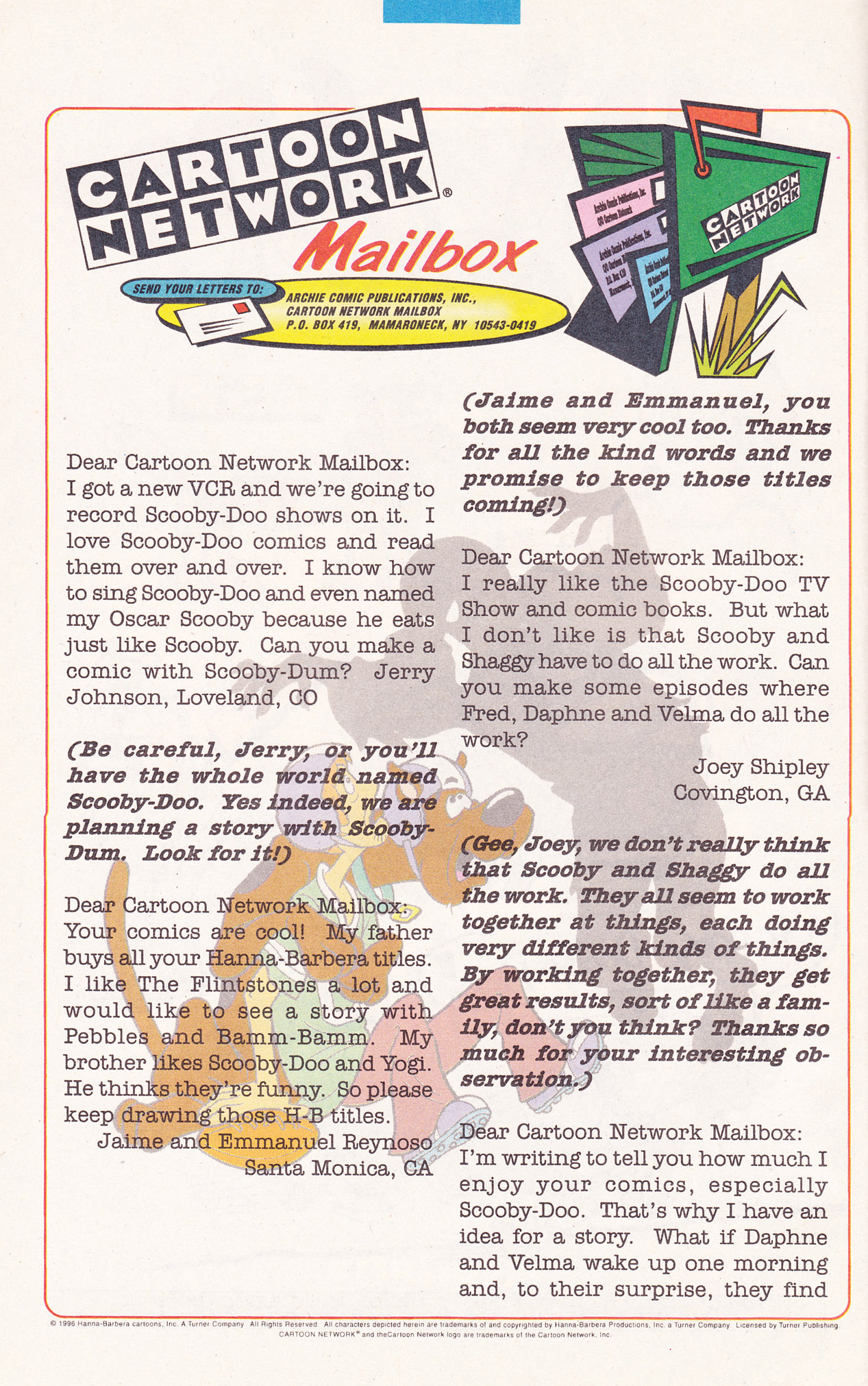 Read online Scooby-Doo (1995) comic -  Issue #19 - 22