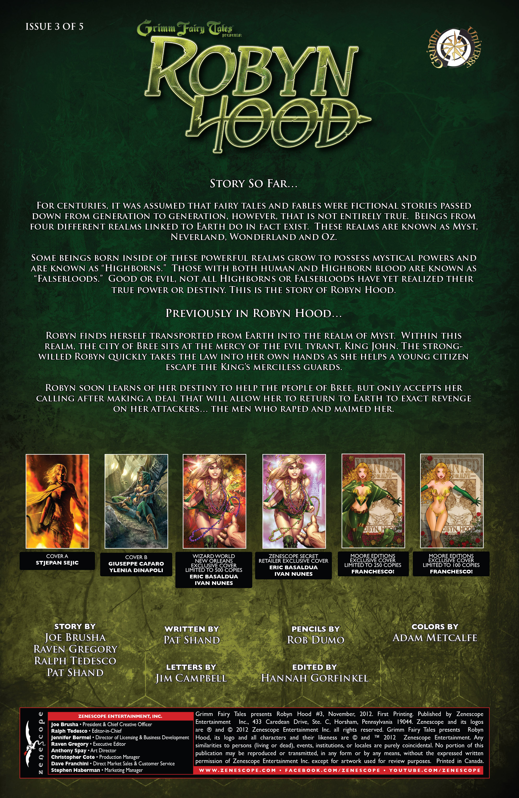 Read online Grimm Fairy Tales presents Robyn Hood (2012) comic -  Issue #3 - 2