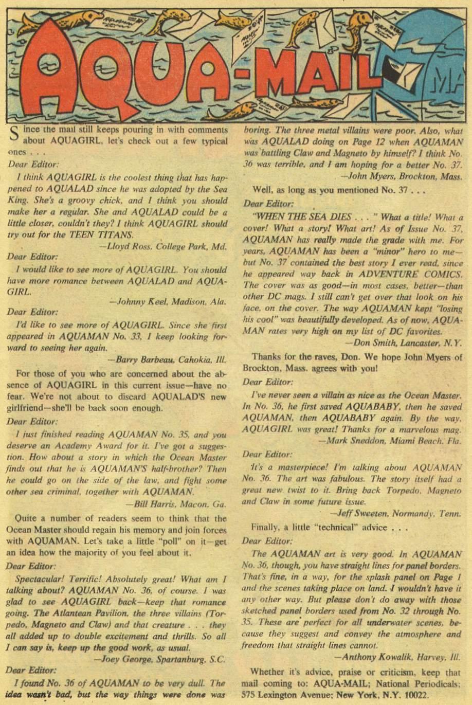 Aquaman (1962) Issue #38 #38 - English 13