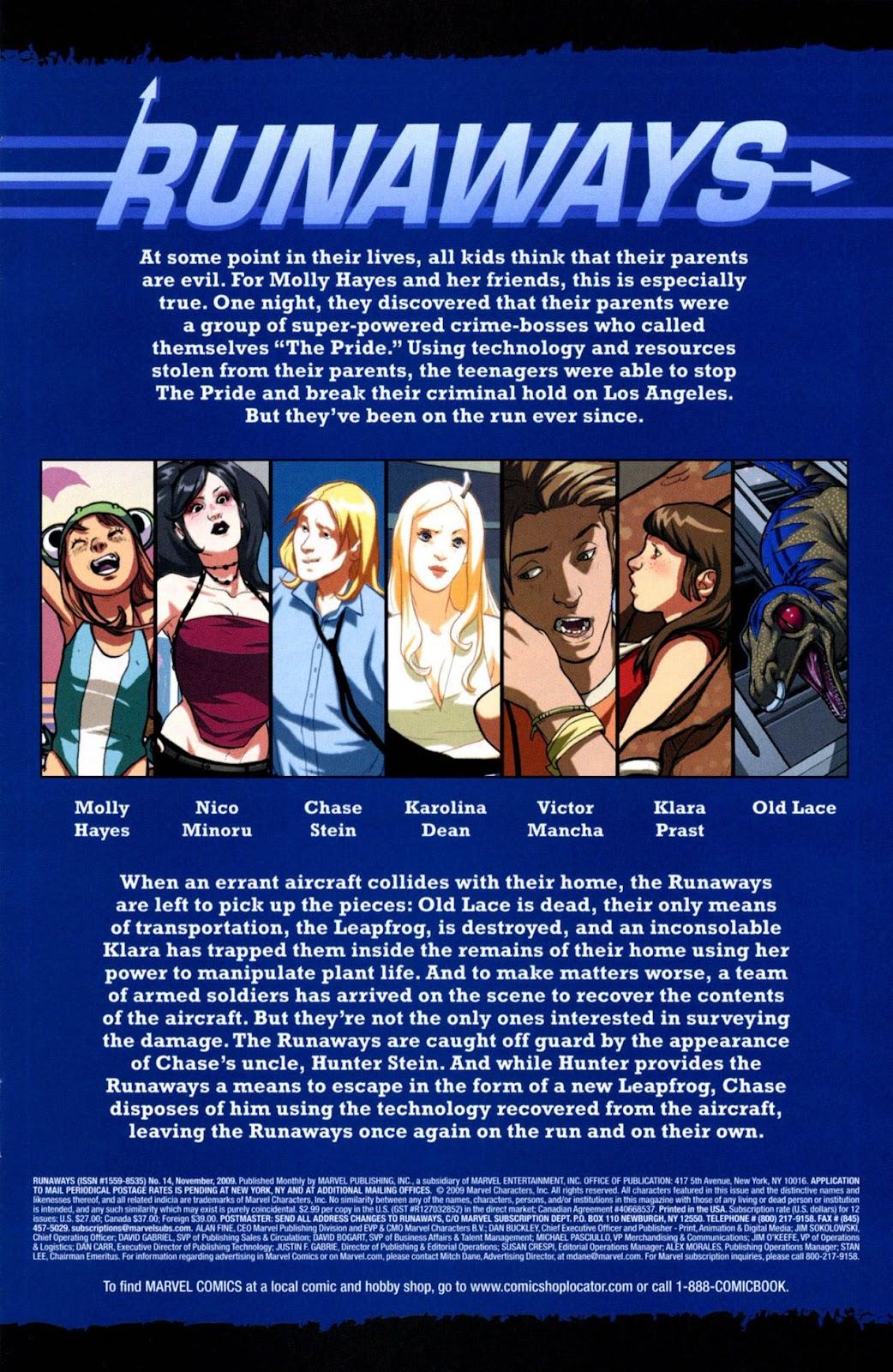 Runaways (2008) Issue #14 #14 - English 2