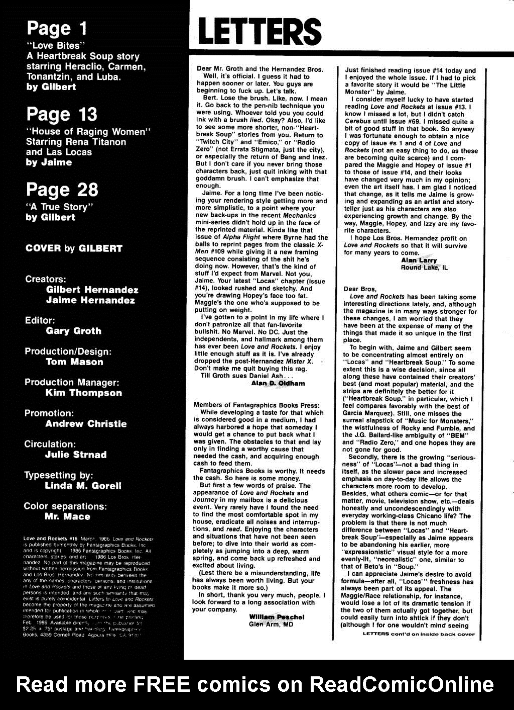 Love and Rockets (1982) Issue #16 #15 - English 2