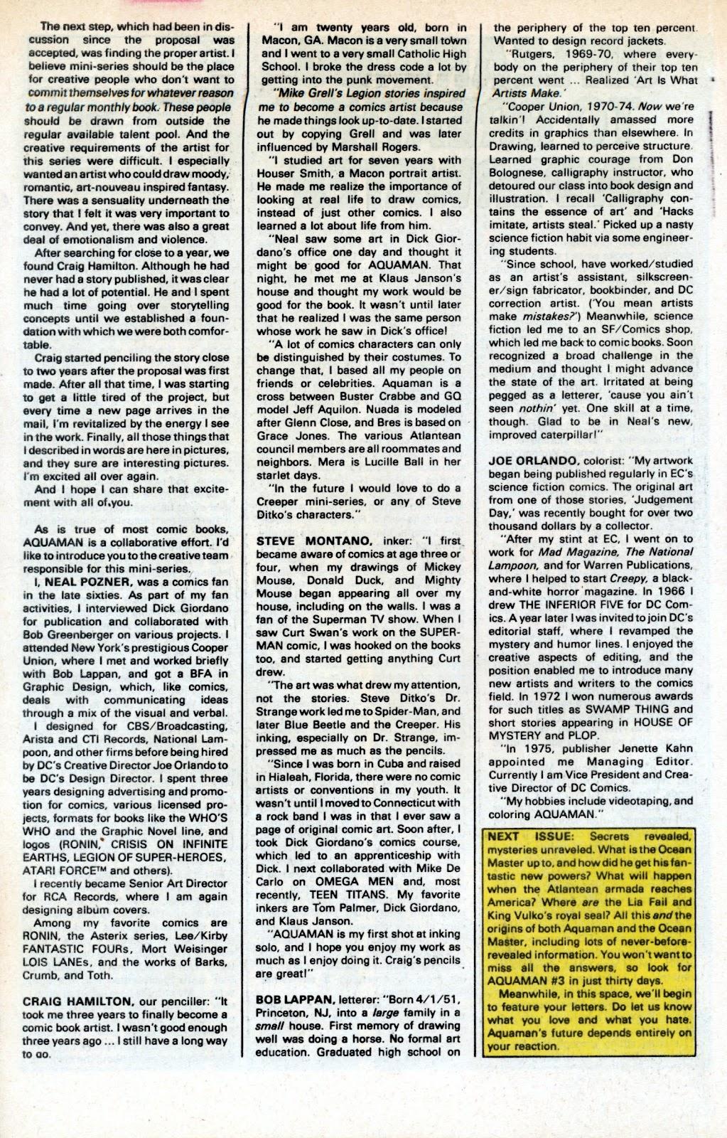 Aquaman (1986) Issue #2 #2 - English 34